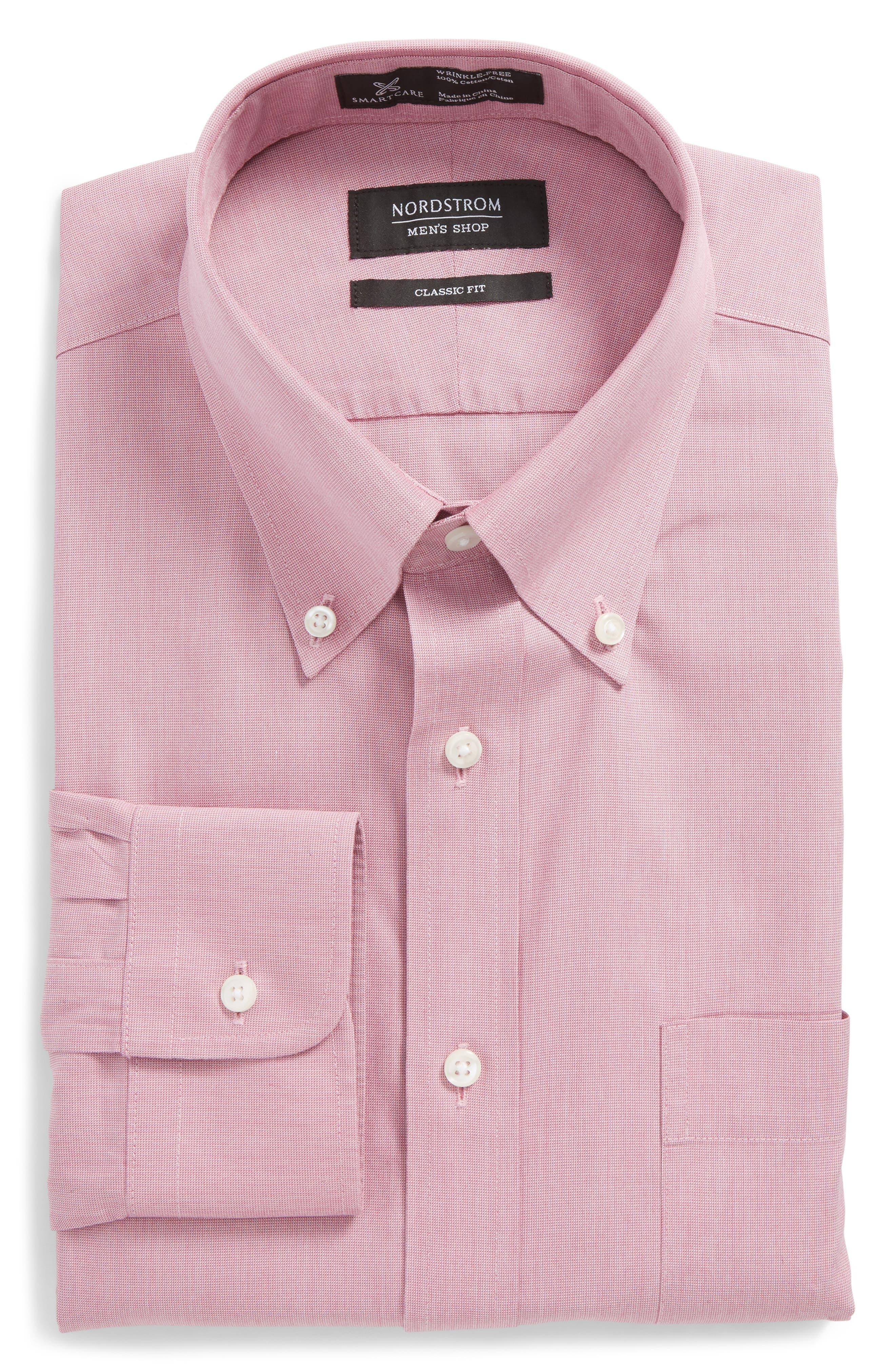 NORDSTROM MEN'S SHOP,                             Smartcare<sup>™</sup> Classic Fit Pinpoint Dress Shirt,                             Main thumbnail 1, color,                             650