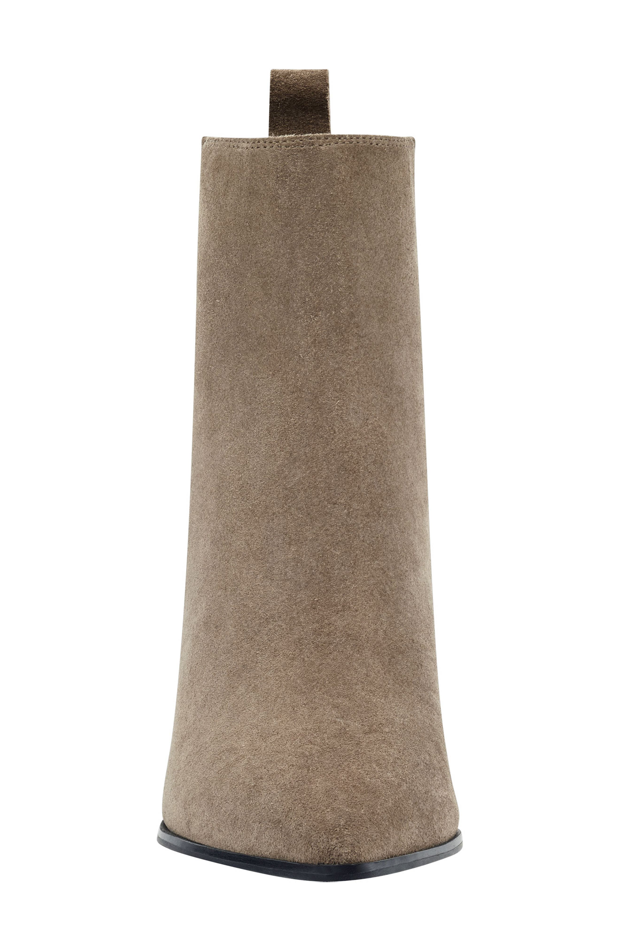 Pointy Toe Chelsea Bootie,                             Alternate thumbnail 4, color,                             TAUPE