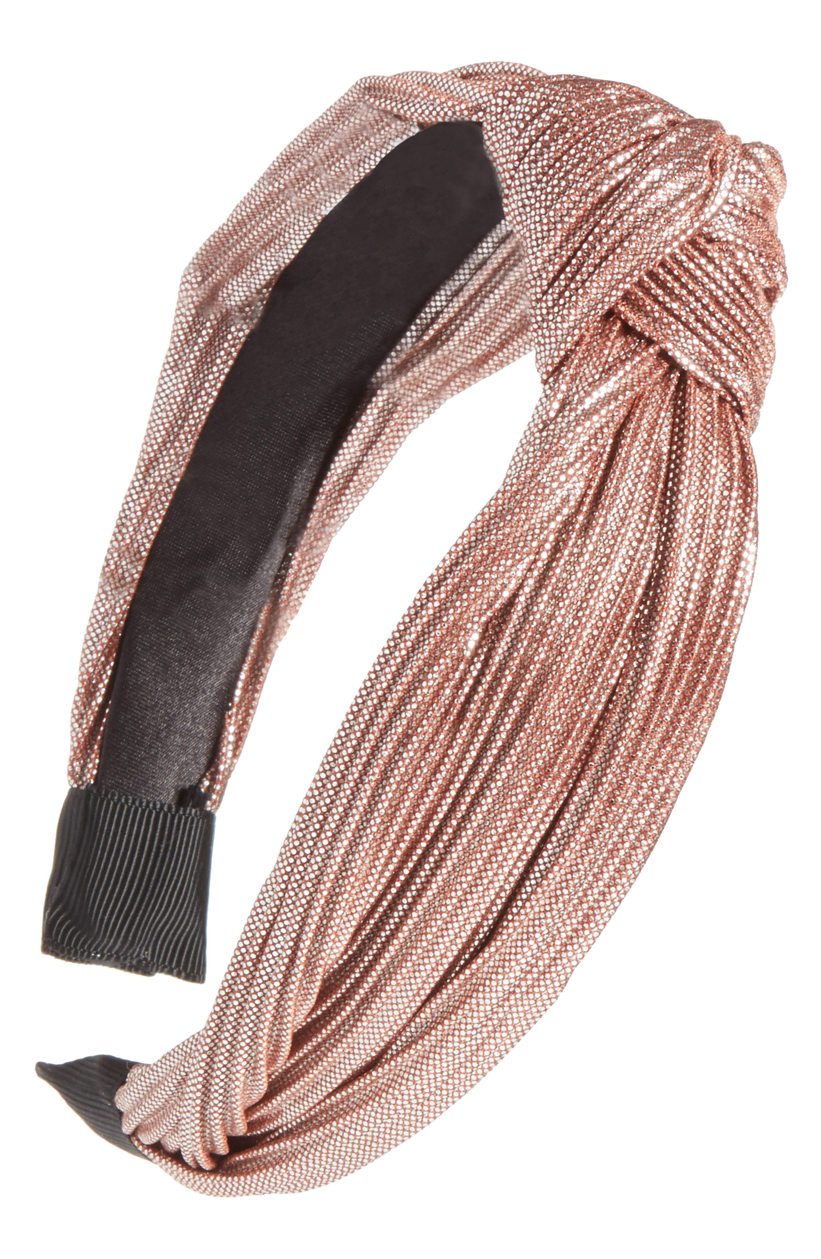 Rose Knotted Headband,                             Main thumbnail 1, color,                             650