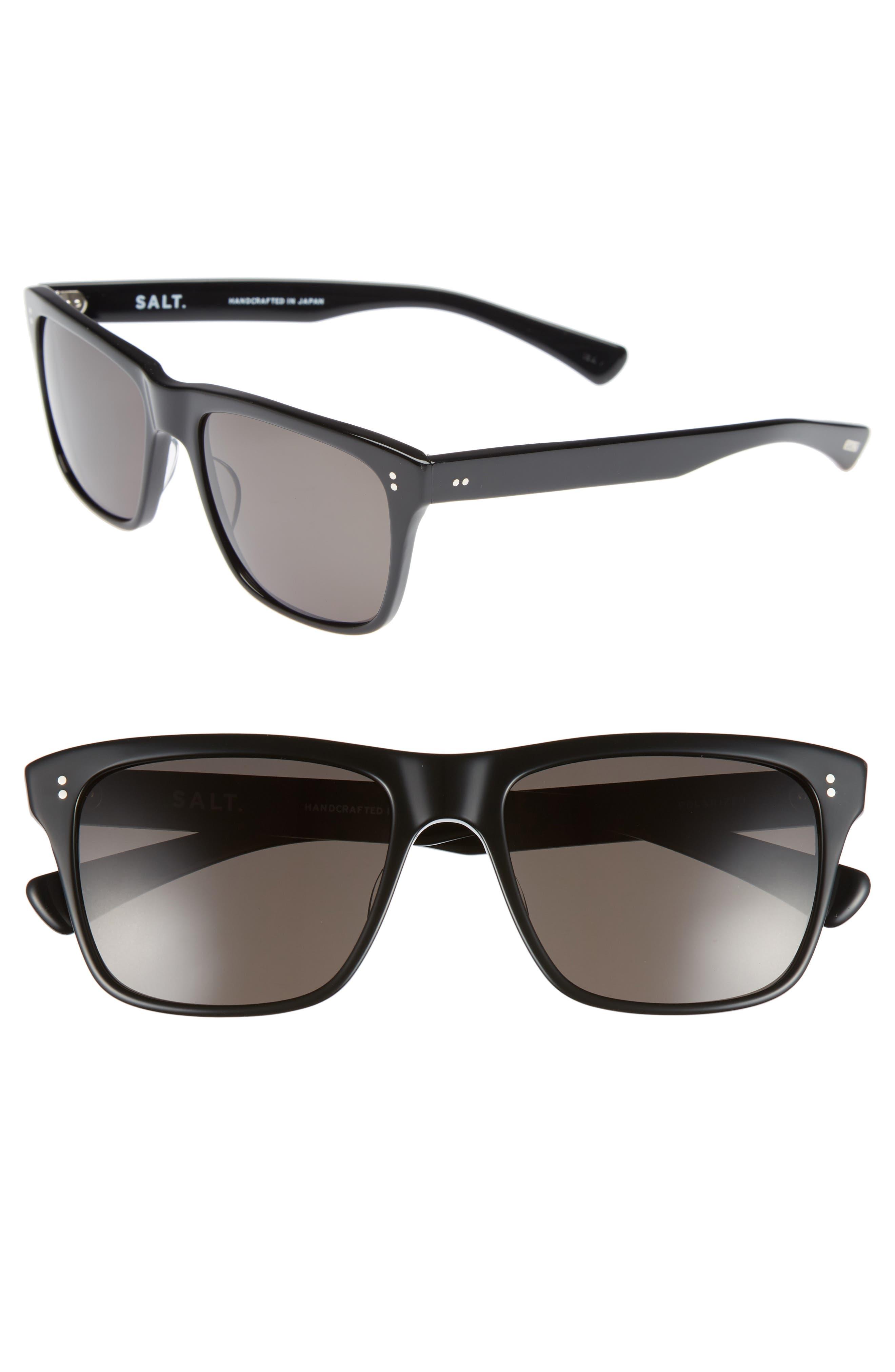 Elihu 57mm Polarized Sunglasses,                         Main,                         color, BLACK