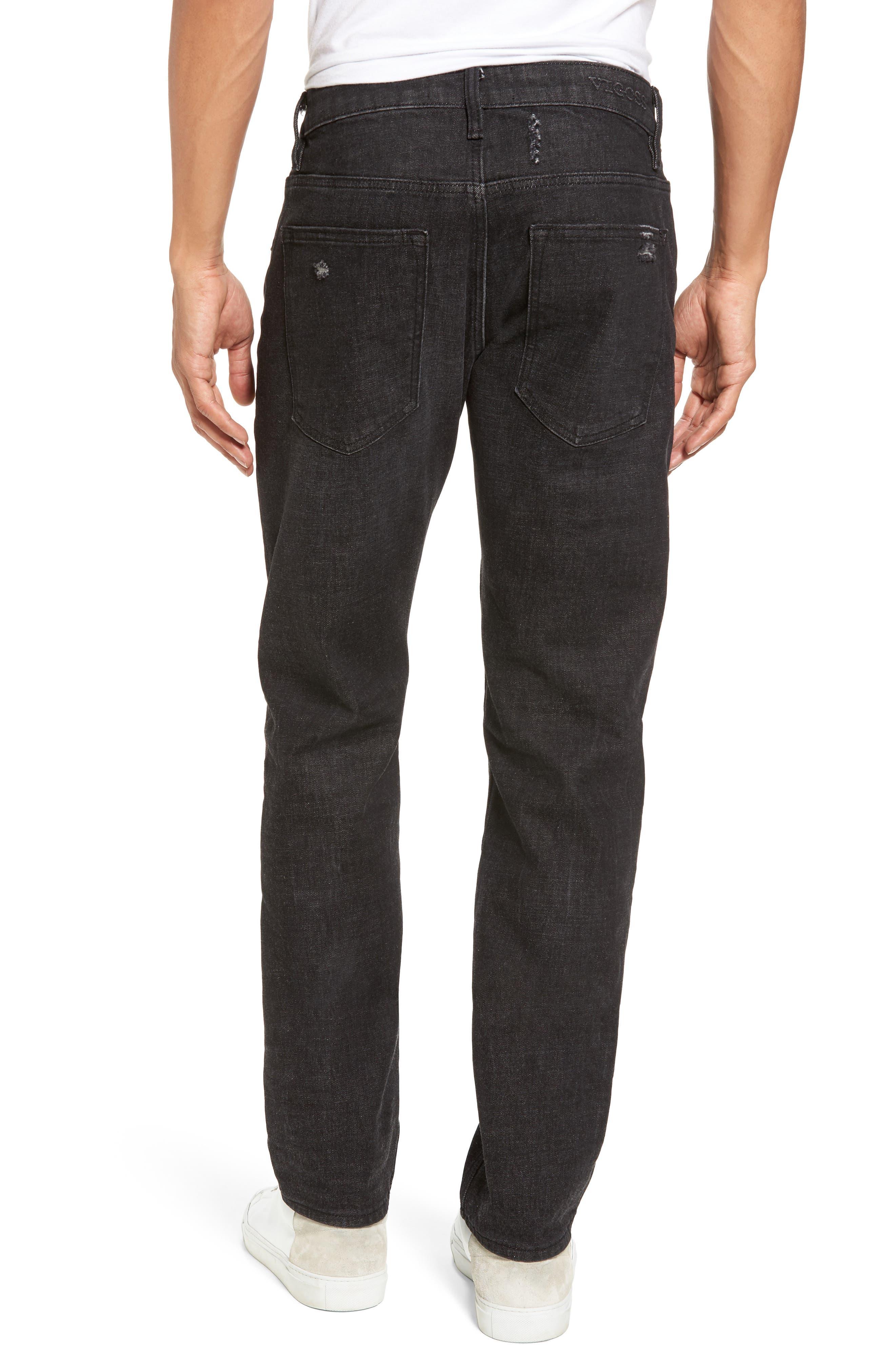 Slim Straight Leg Jeans,                             Alternate thumbnail 2, color,                             001