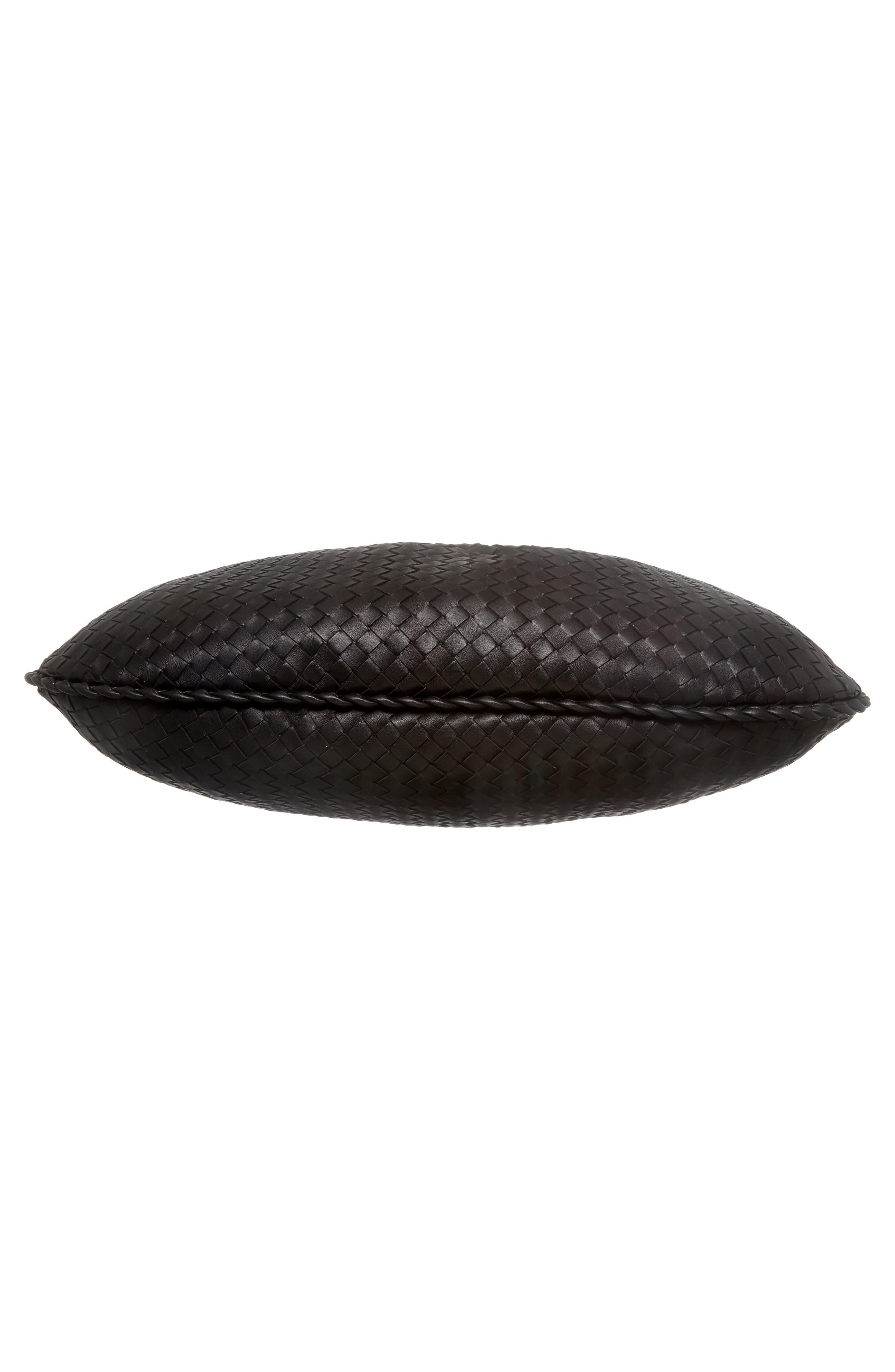 Large Veneta Leather Hobo,                             Alternate thumbnail 6, color,                             8175 NERO