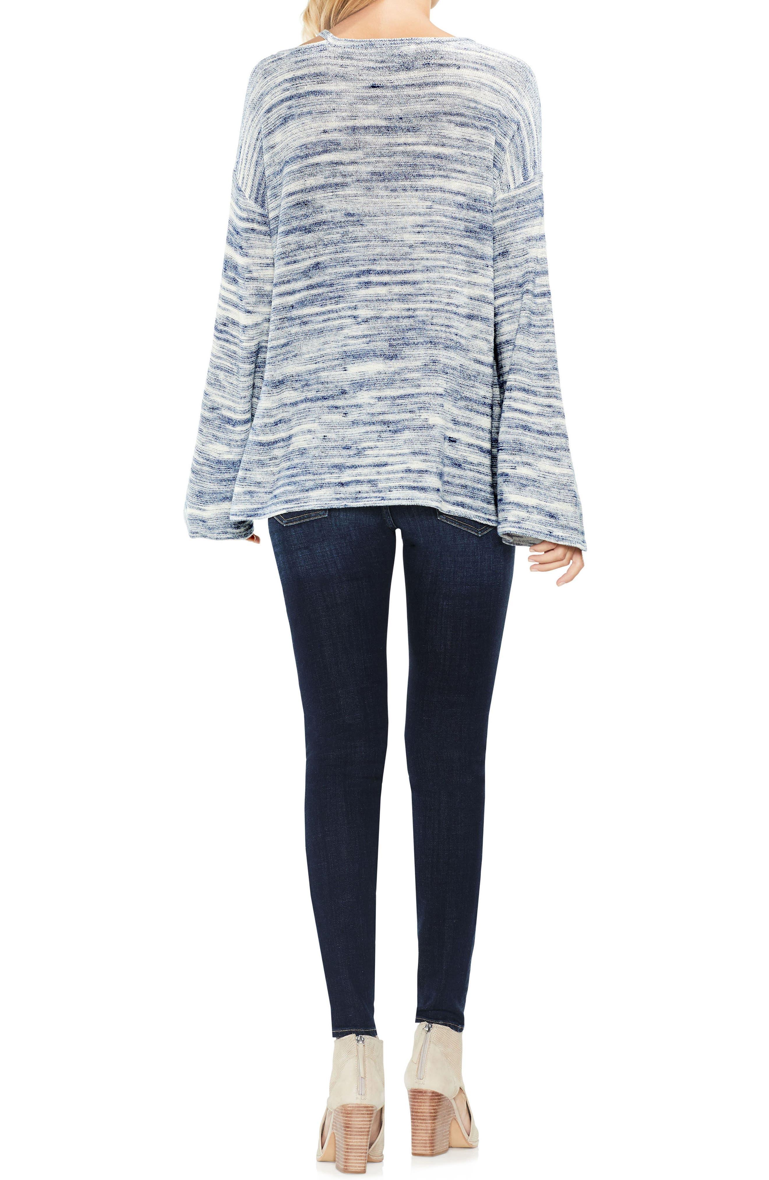 Drop Shoulder Space Dye Sweater,                             Alternate thumbnail 5, color,