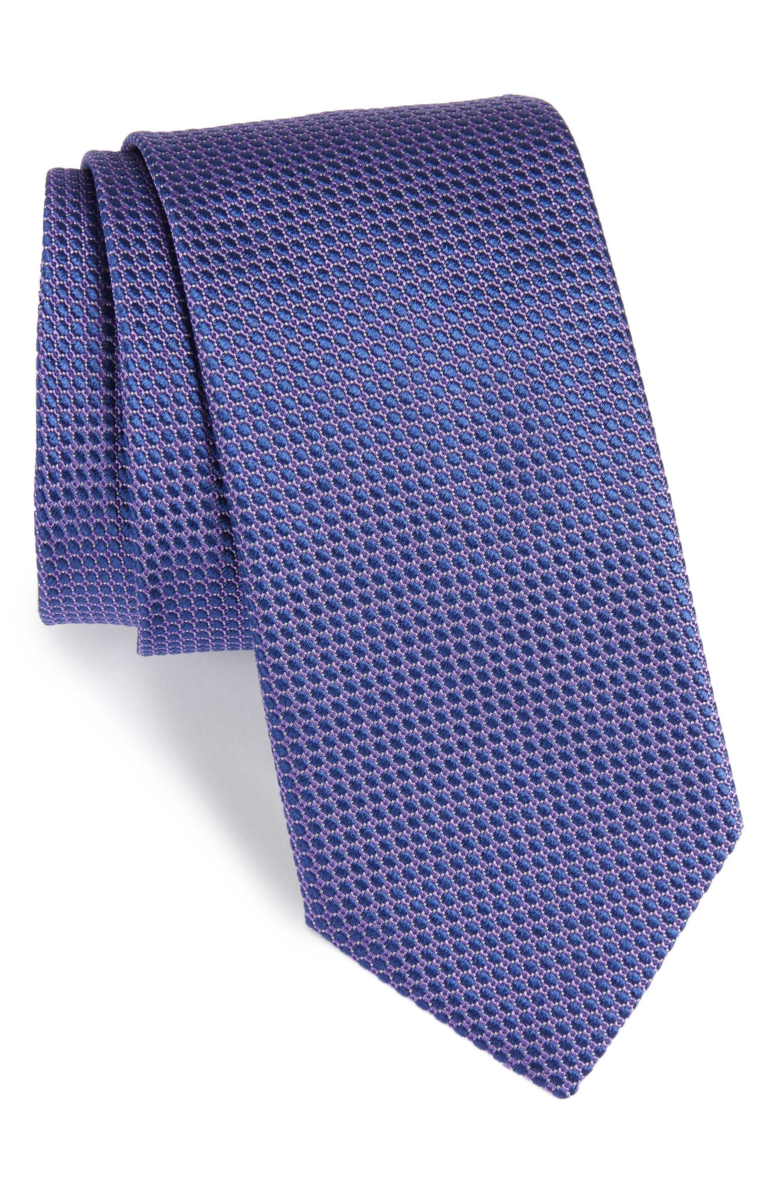 Circle Geometric Silk Tie,                             Main thumbnail 1, color,                             PURPLE