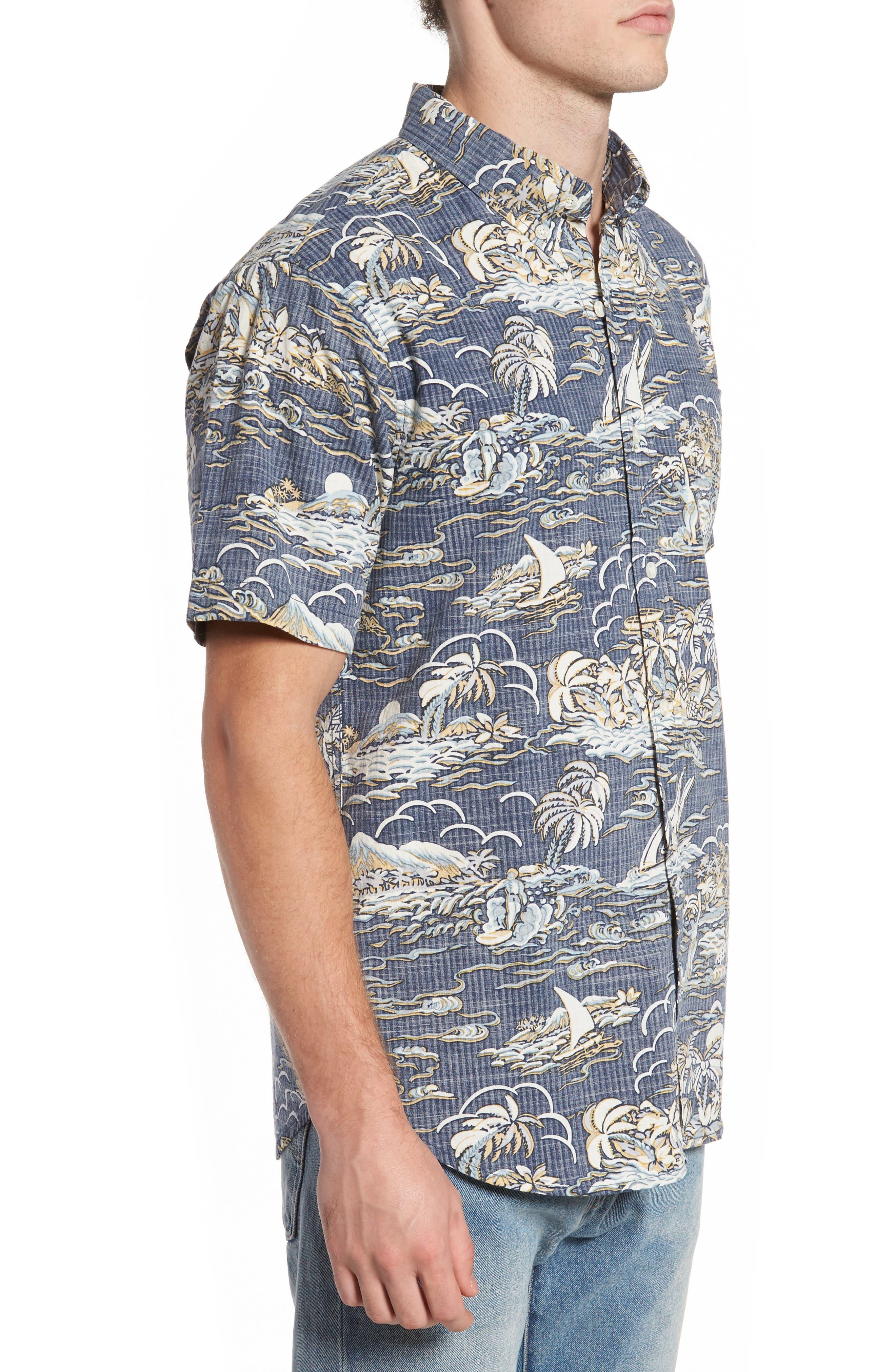 Laupakahi Modern Fit Print Shirt,                             Alternate thumbnail 3, color,                             410