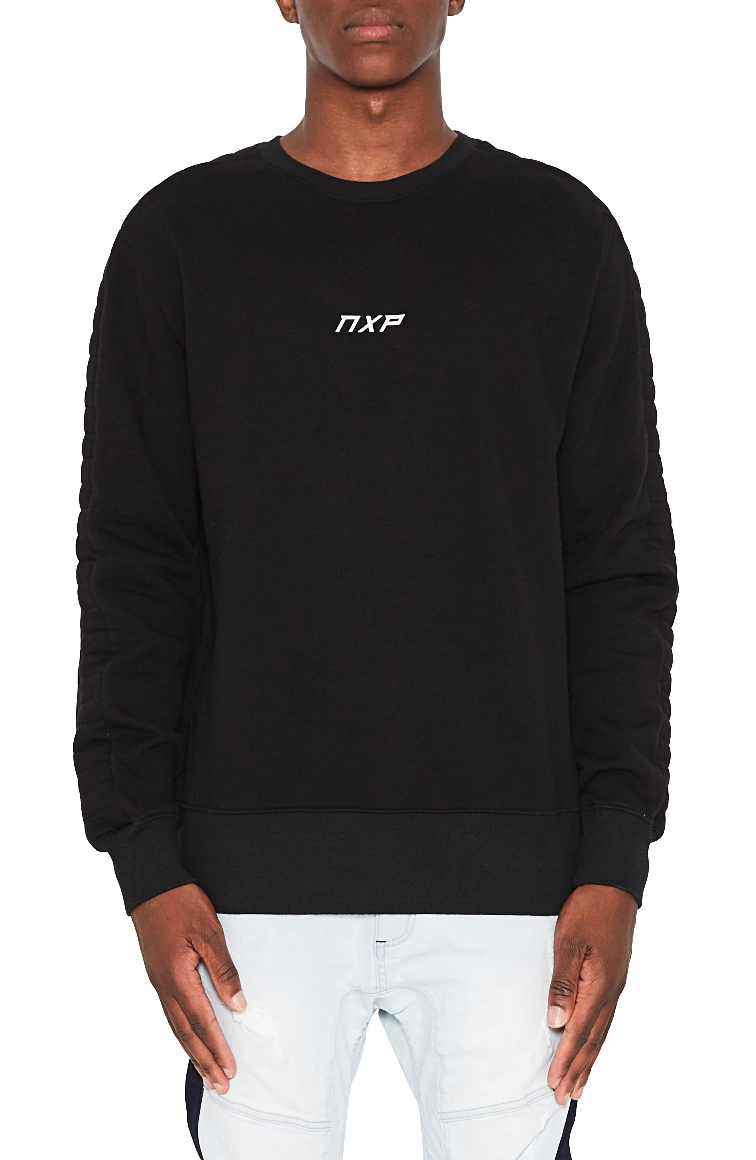 Unleashed Fleece Sweatshirt,                             Main thumbnail 1, color,                             JET BLACK