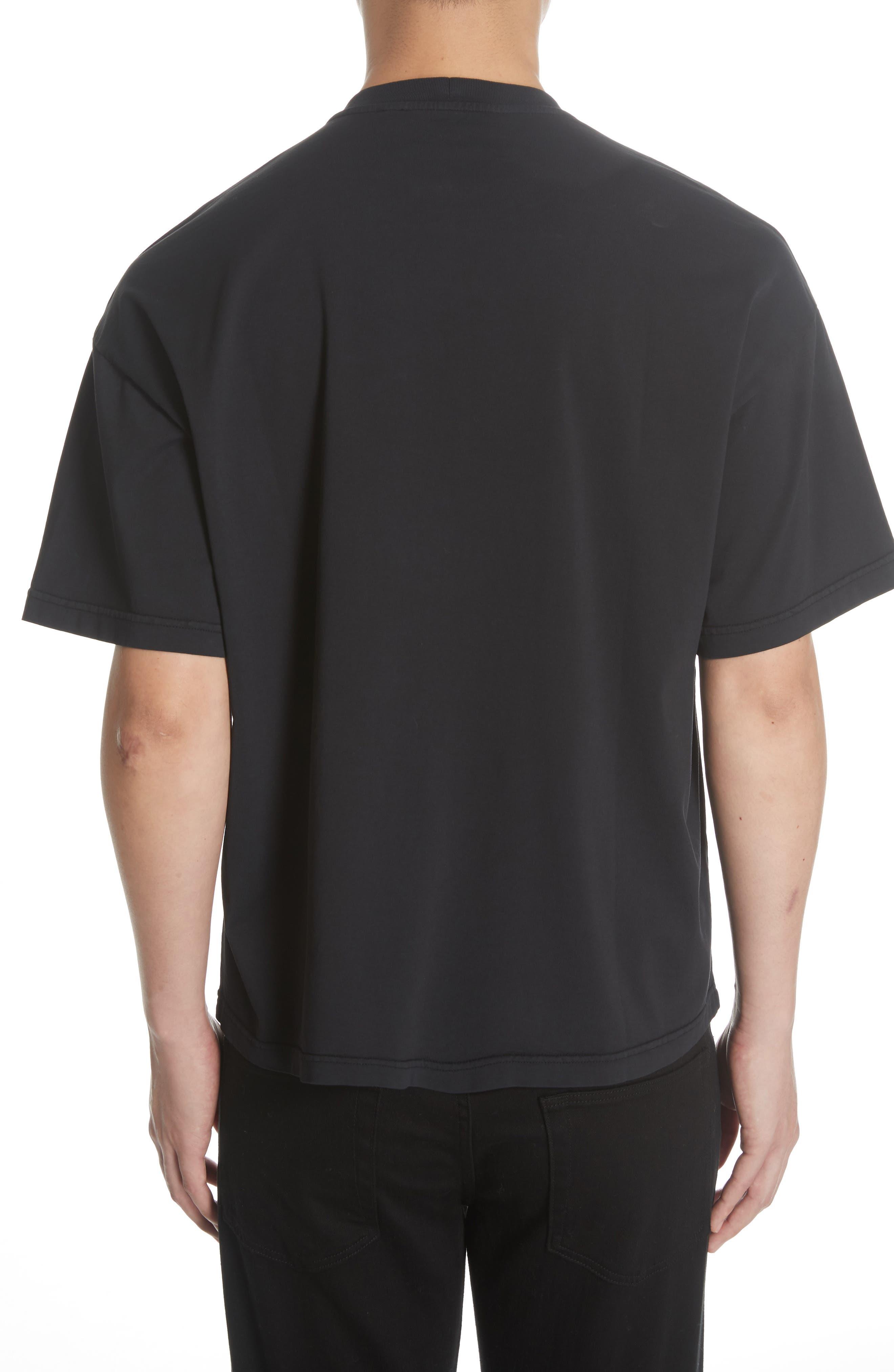 Oversize T-Shirt,                             Alternate thumbnail 2, color,                             BLACK