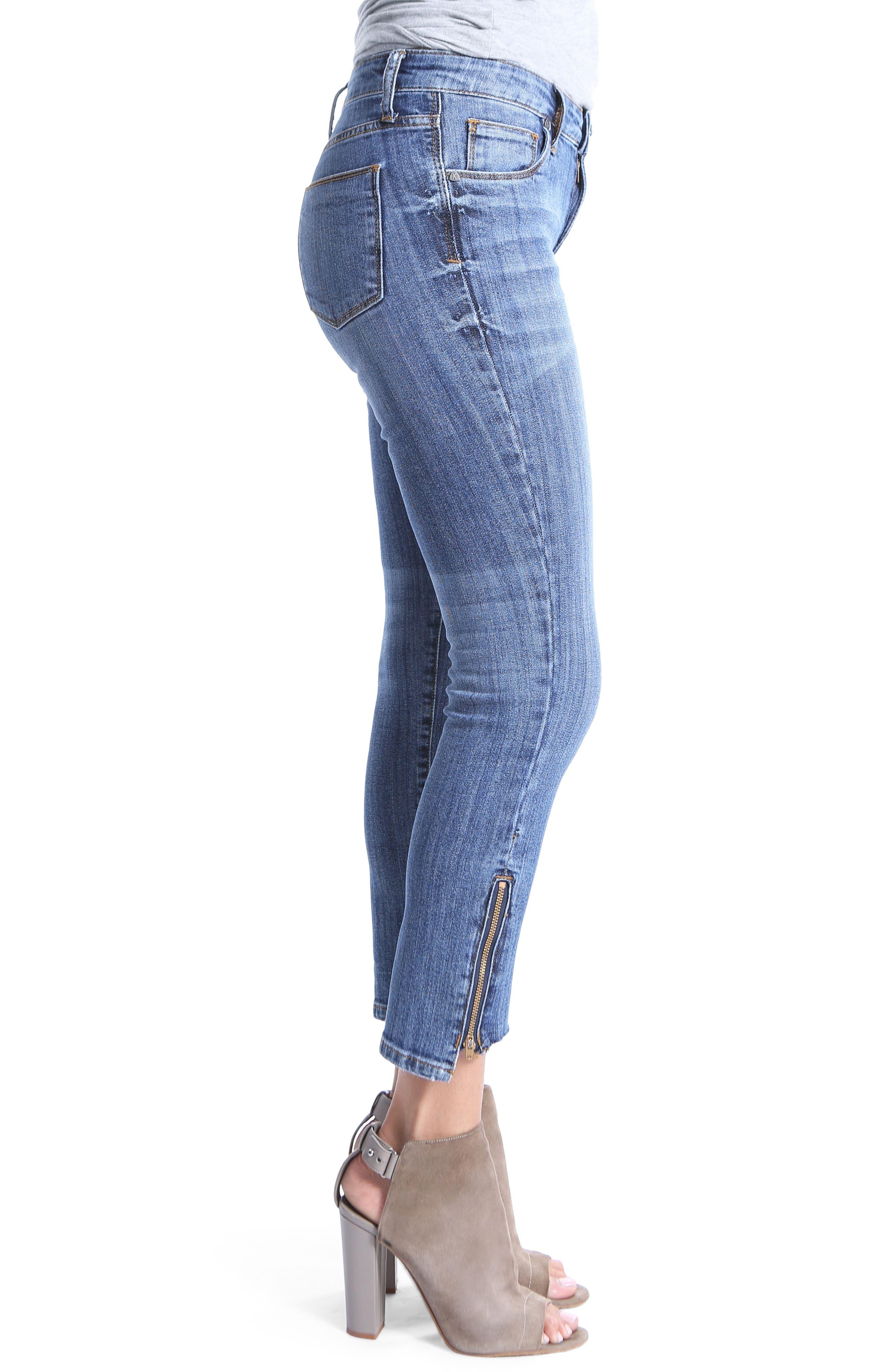 Reese Step Hem Ankle Jeans,                             Alternate thumbnail 3, color,                             466