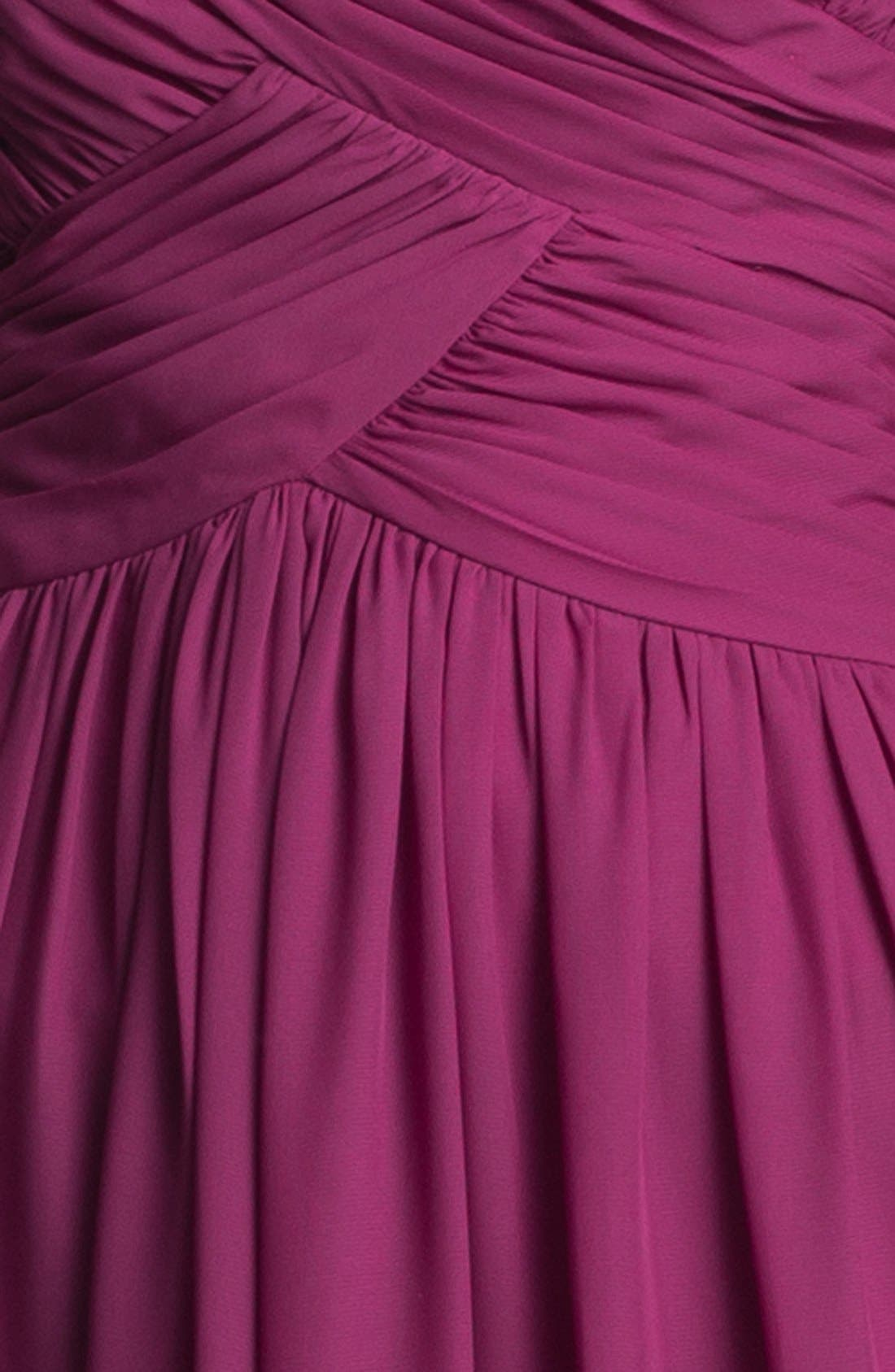 Strapless Ruched Chiffon Gown,                             Alternate thumbnail 24, color,