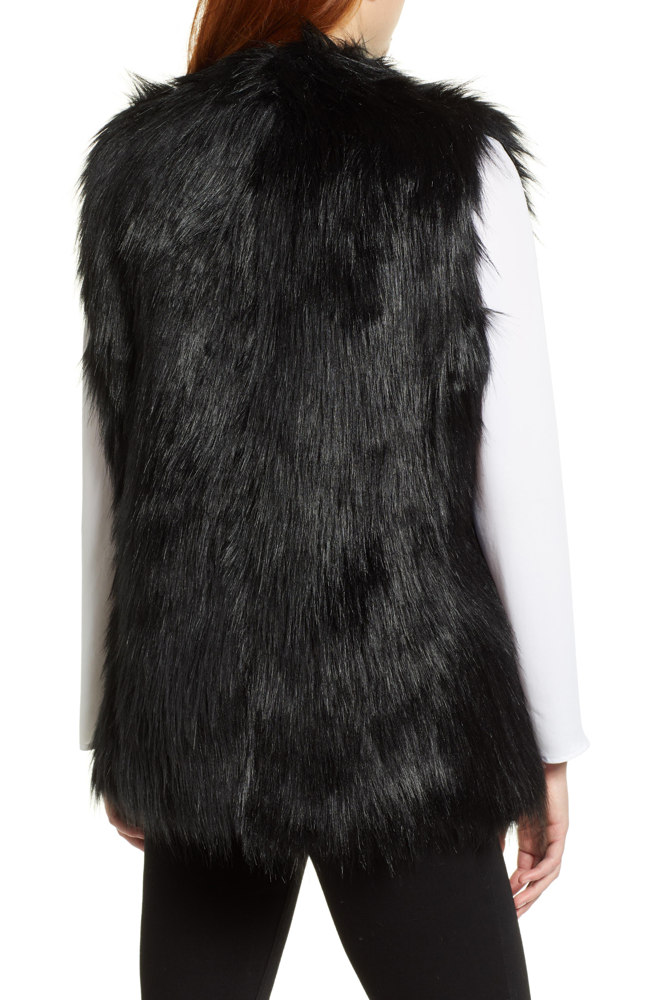 CHAUS,                             Faux Fur Vest,                             Alternate thumbnail 2, color,                             011
