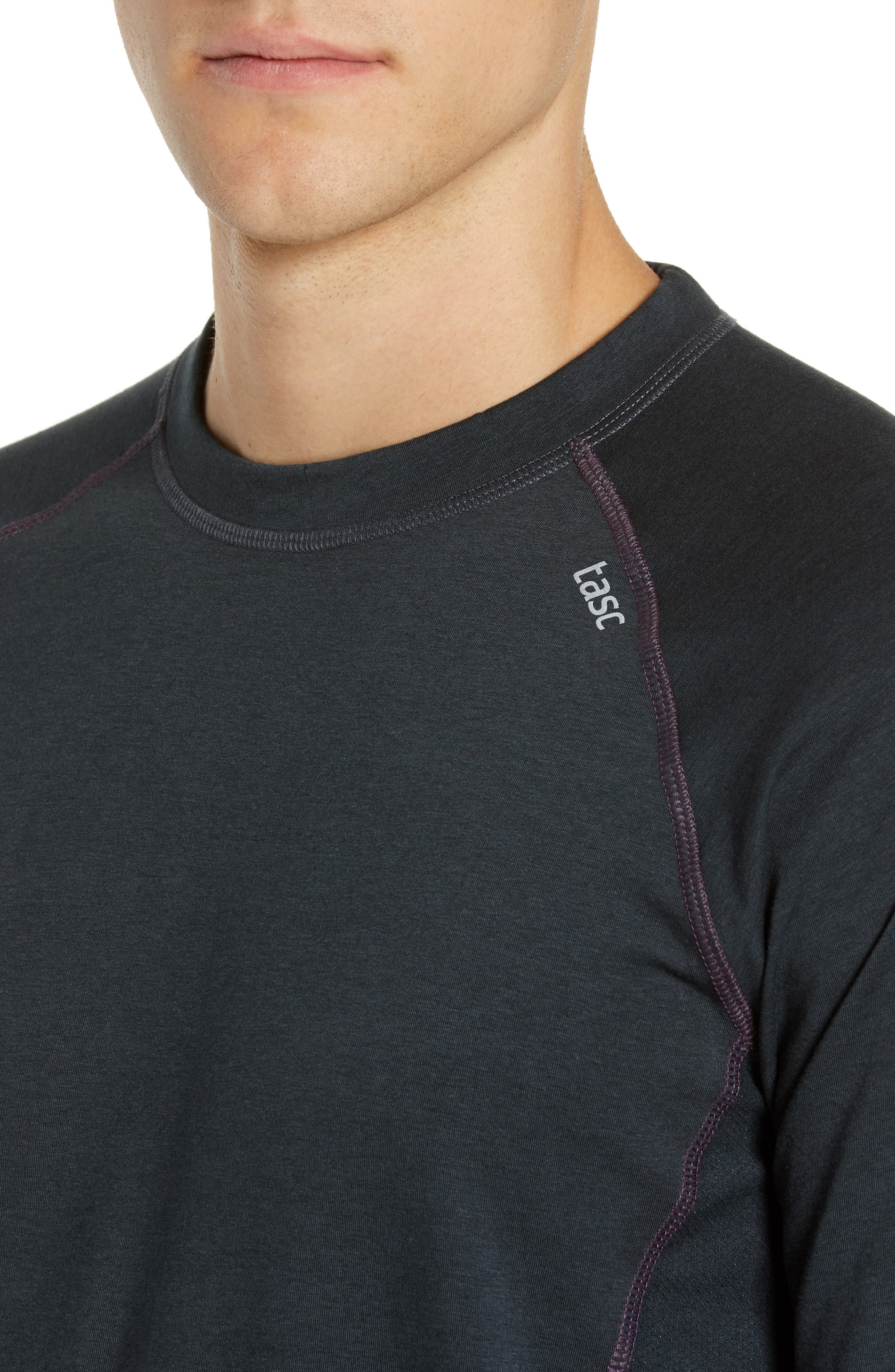 Charge II Long Sleeve T-Shirt,                             Alternate thumbnail 4, color,                             GUNMETAL/ ECLIPSE