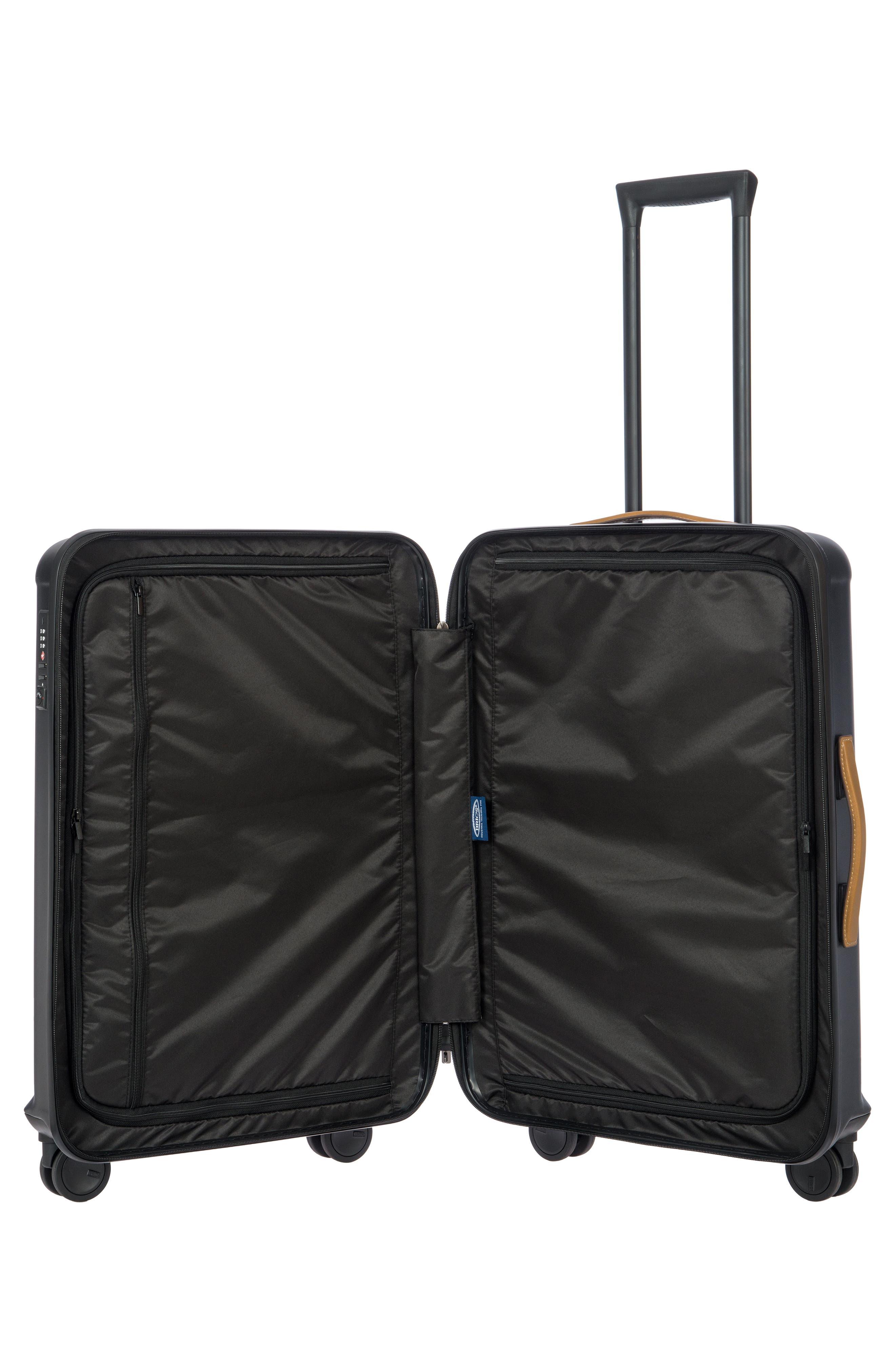 Capri 27-Inch Rolling Suitcase,                             Alternate thumbnail 2, color,                             MATTE BLACK