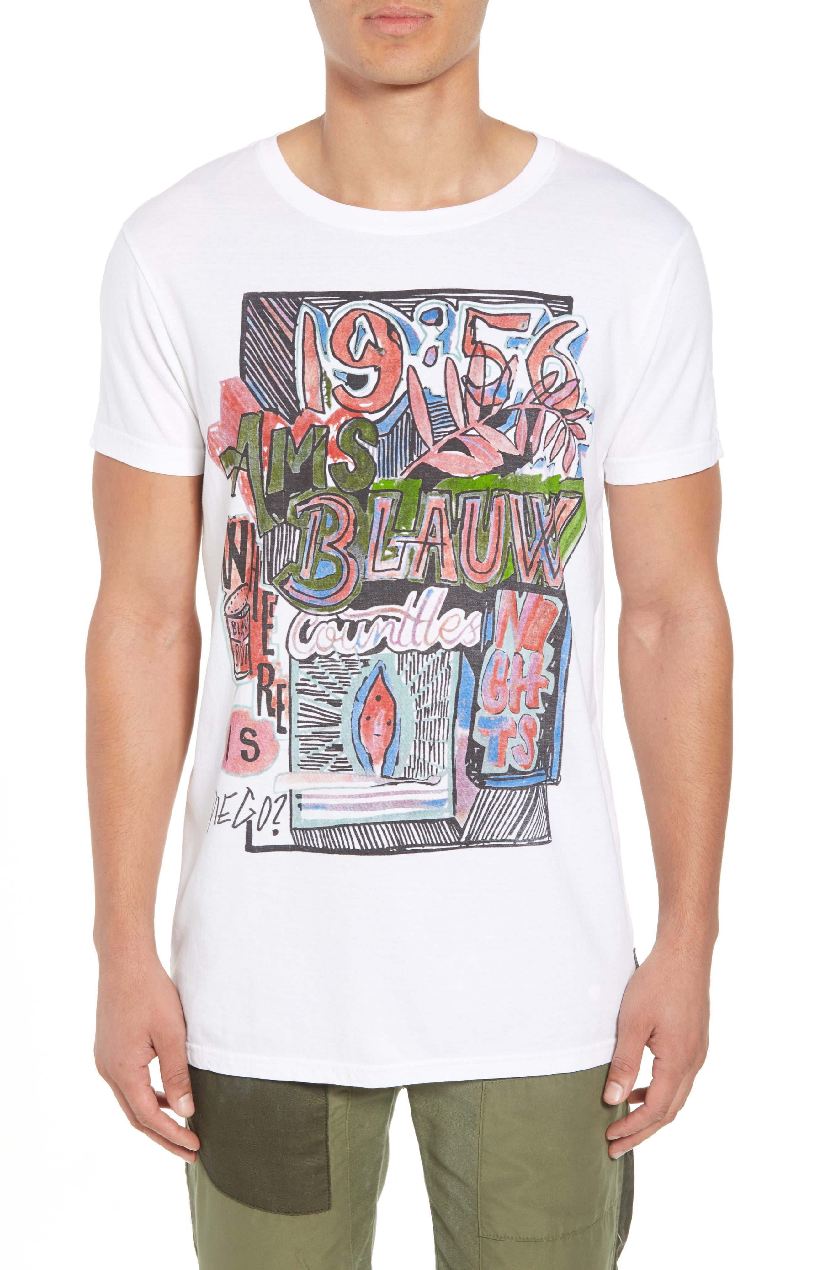Indigo Lamplight T-Shirt,                             Main thumbnail 1, color,                             WHITE