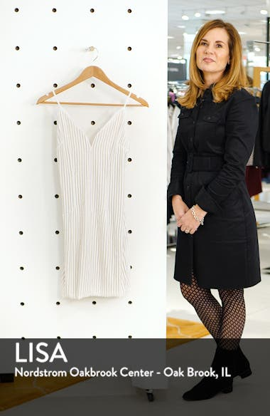Tiffany Sequin Stripe Sheath Dress, sales video thumbnail