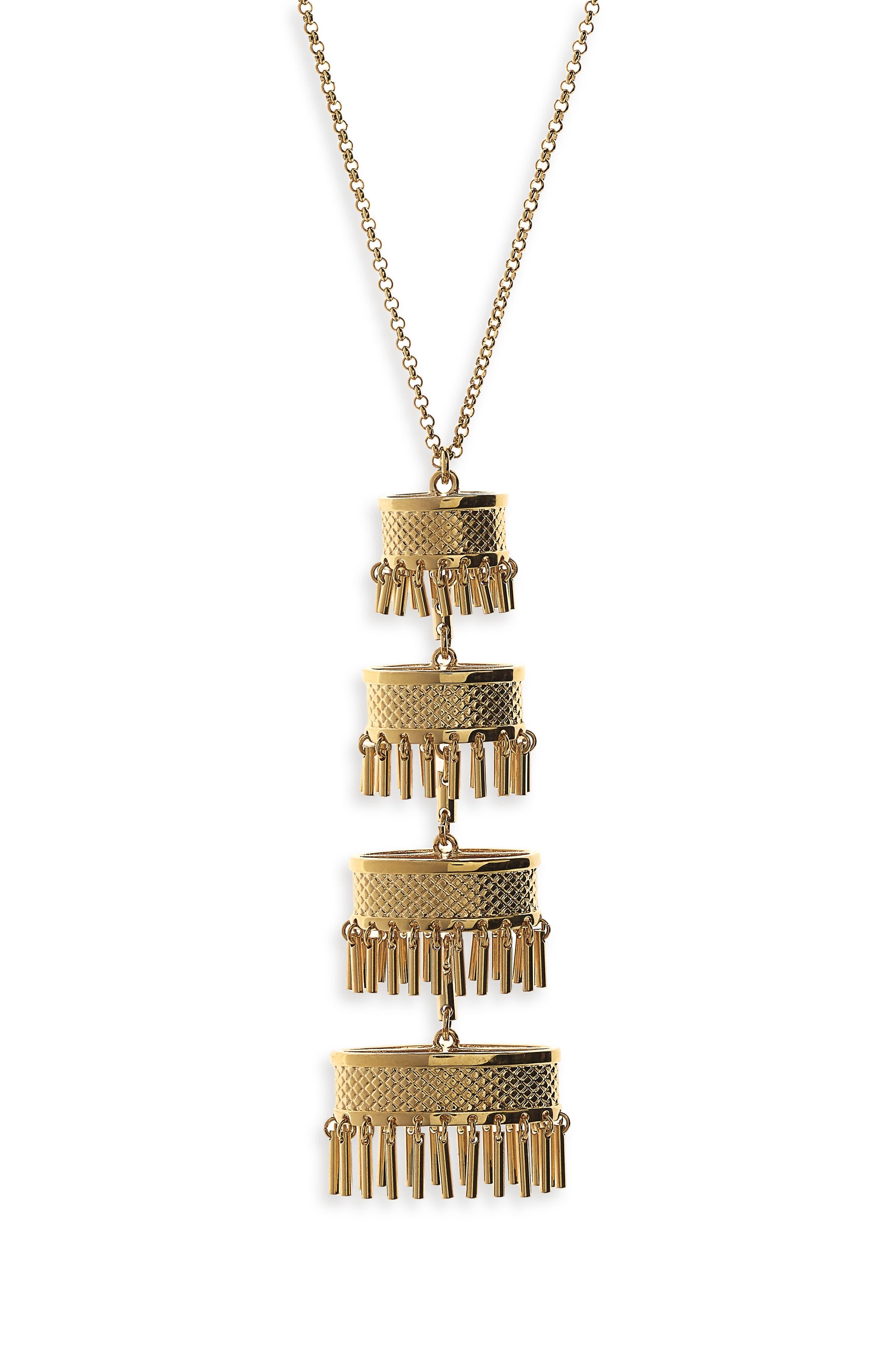 Pagoda Pendant,                             Alternate thumbnail 2, color,                             GOLD