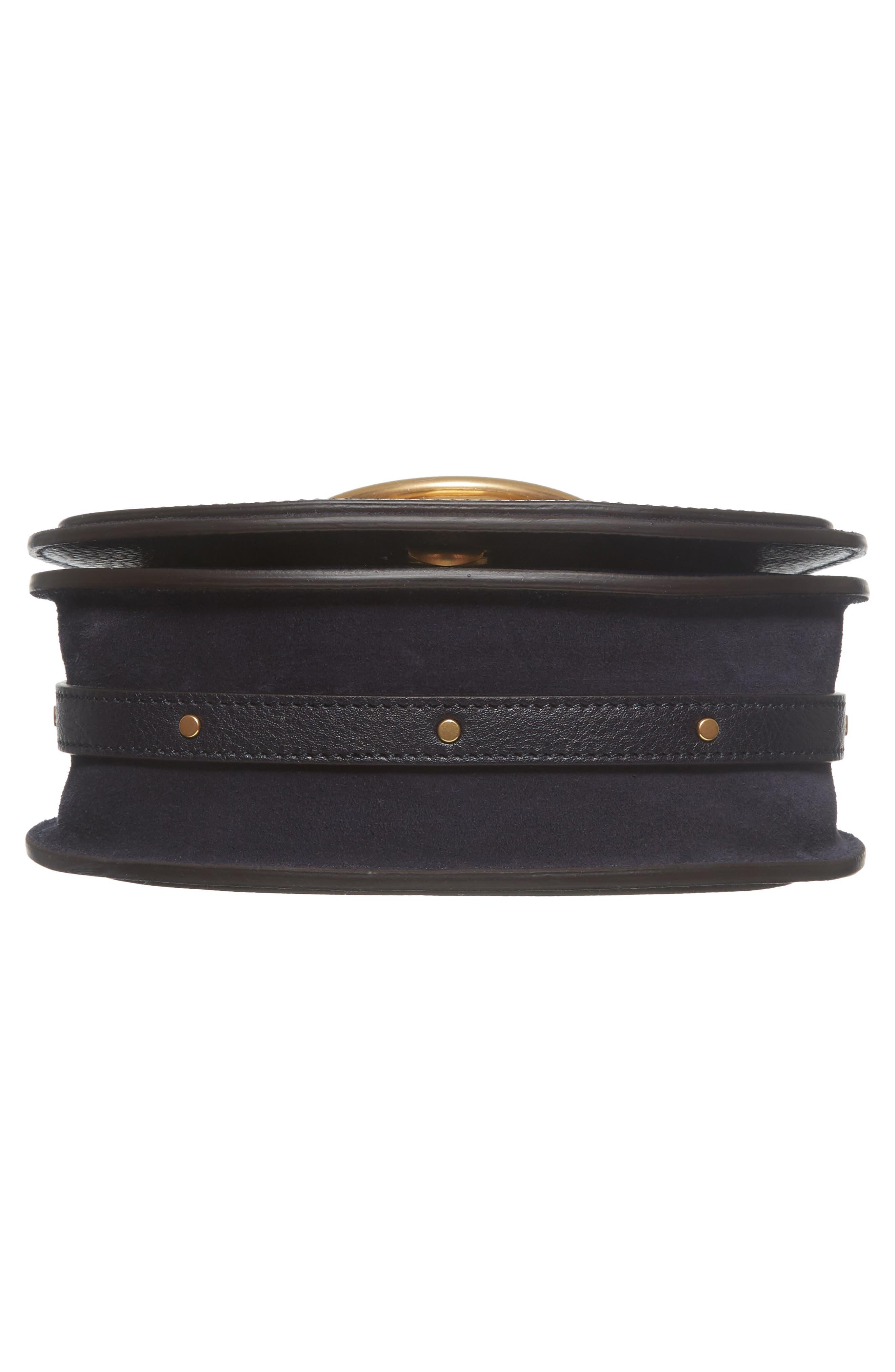 Small Nile Bracelet Studded Leather Crossbody Bag,                             Alternate thumbnail 6, color,