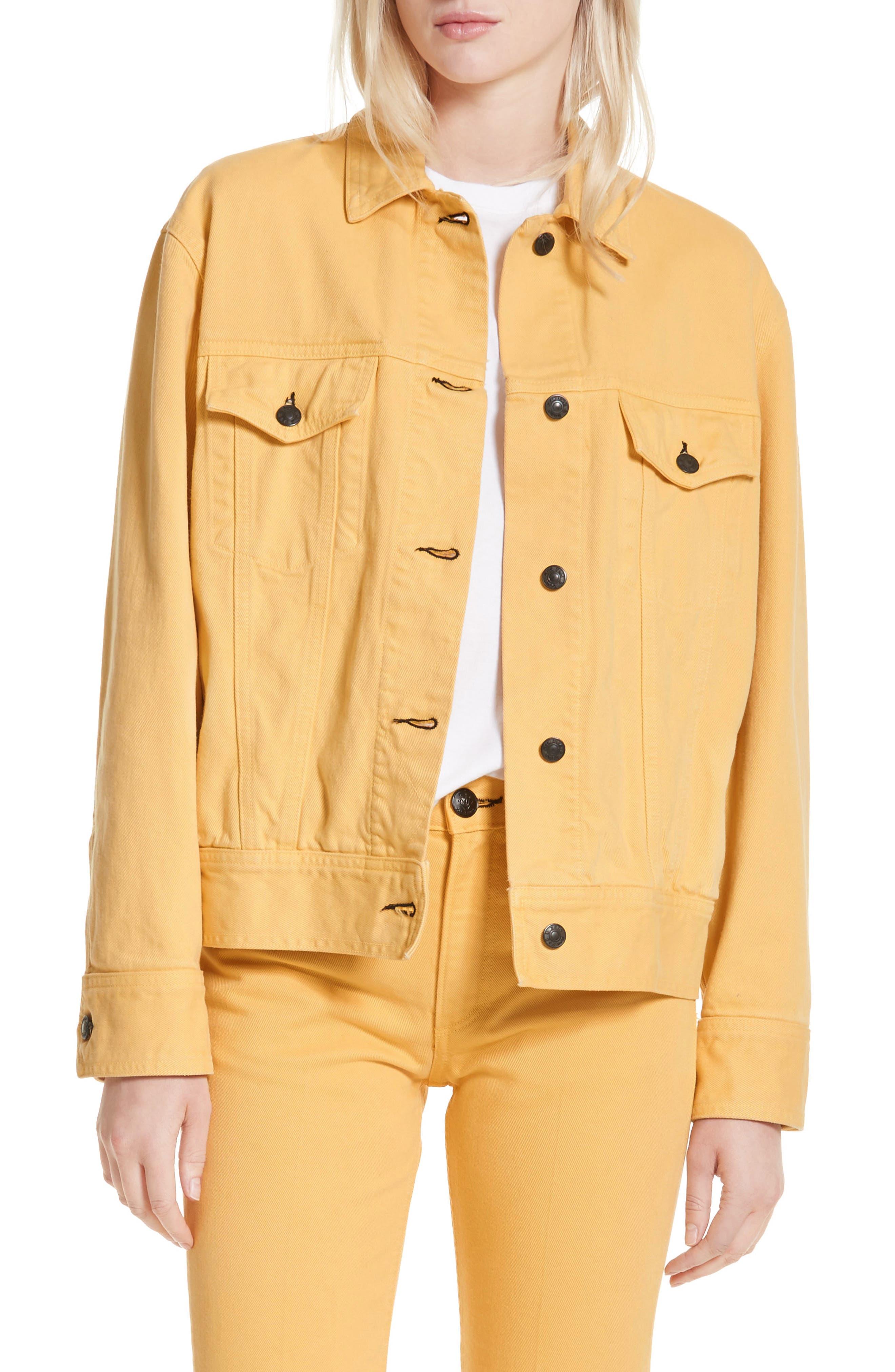 rag & bone Oversize Twill Jacket,                             Main thumbnail 1, color,