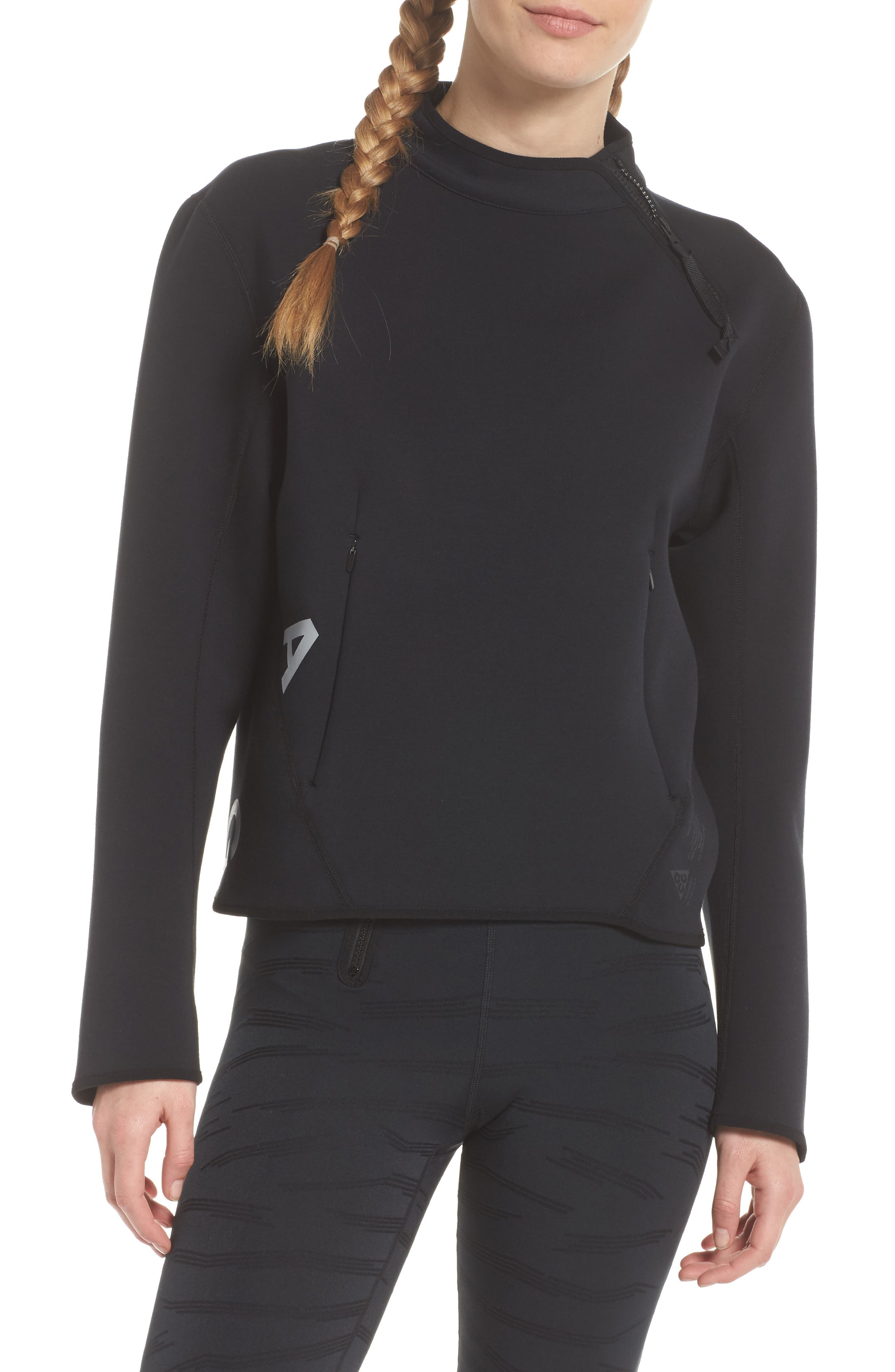 NikeLab ACG Fleece Women's Crewneck Top,                             Main thumbnail 1, color,                             010