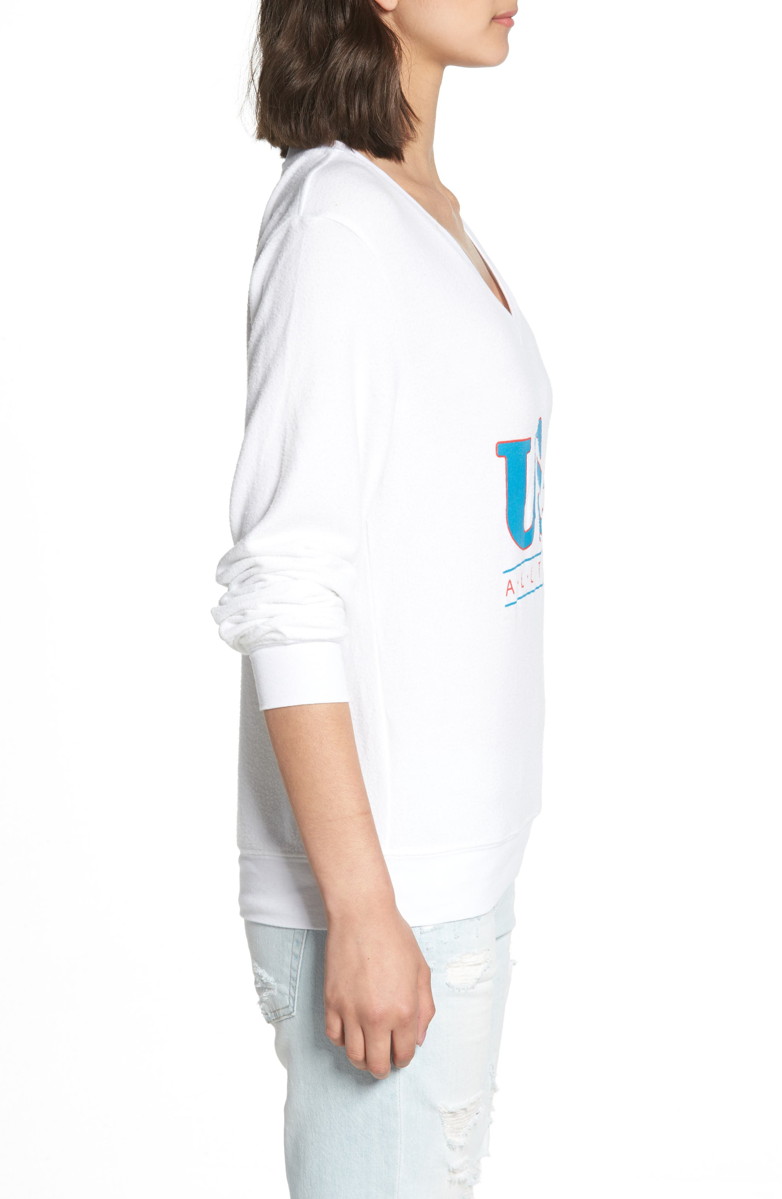 All the Way Baggy Beach Pullover,                             Alternate thumbnail 3, color,                             CLEAN WHITE