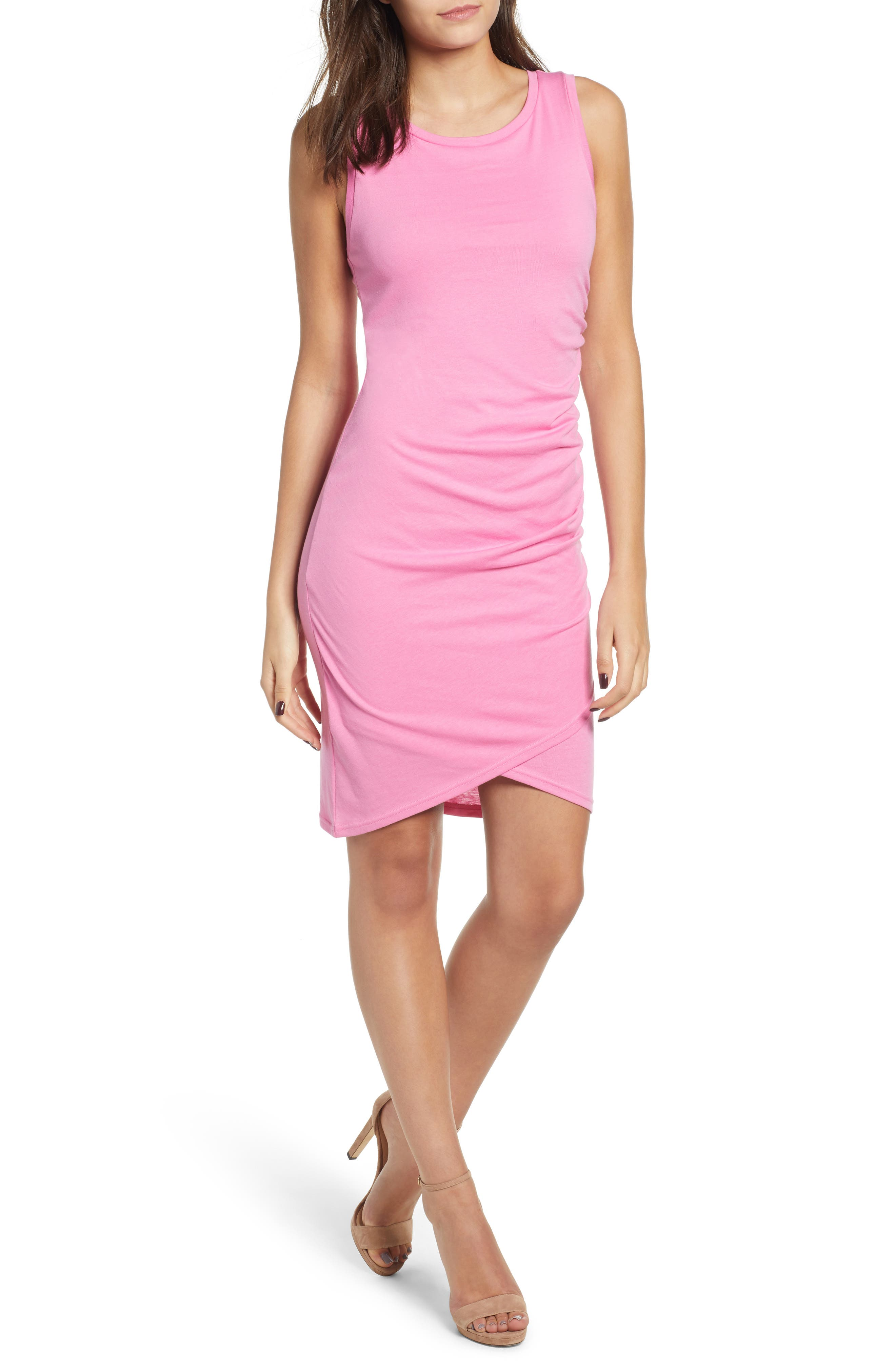 Ruched Body-Con Tank Dress,                             Main thumbnail 18, color,