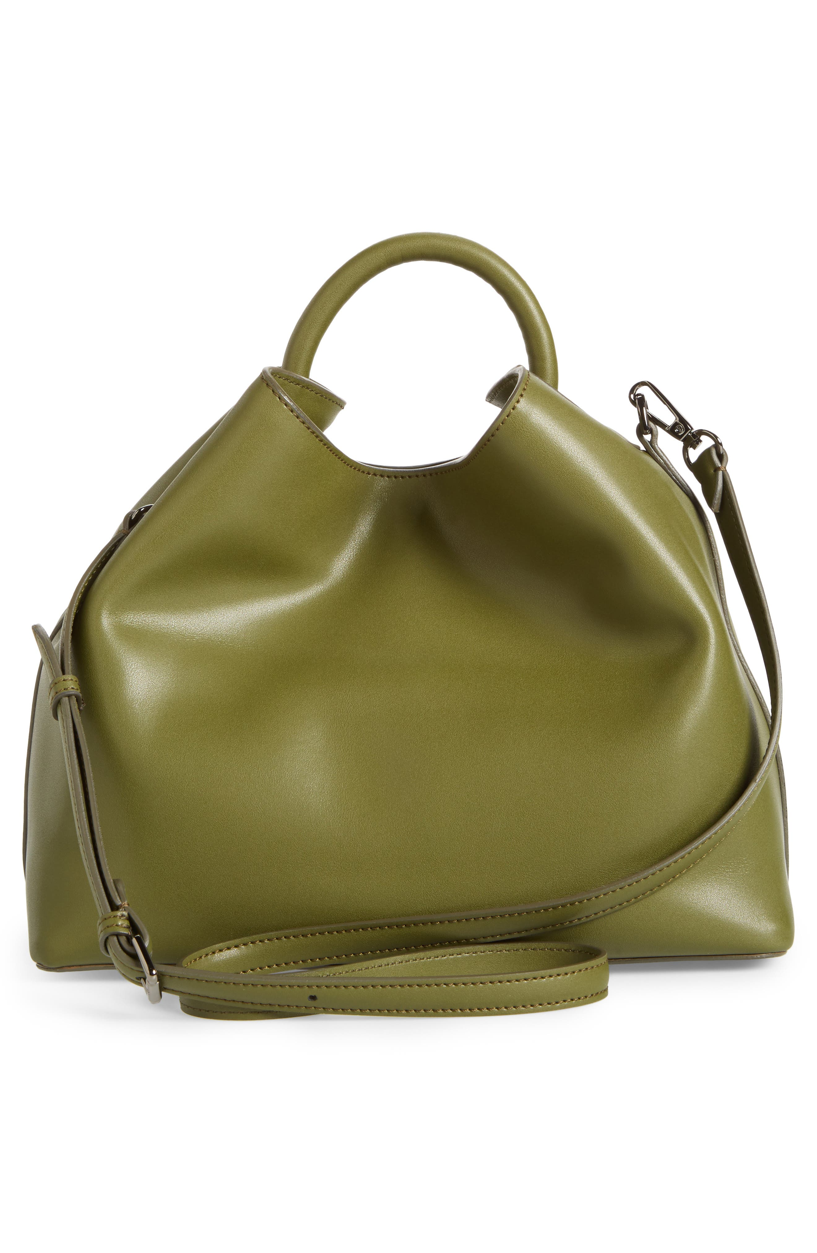 Raisin Leather Handbag,                             Alternate thumbnail 20, color,