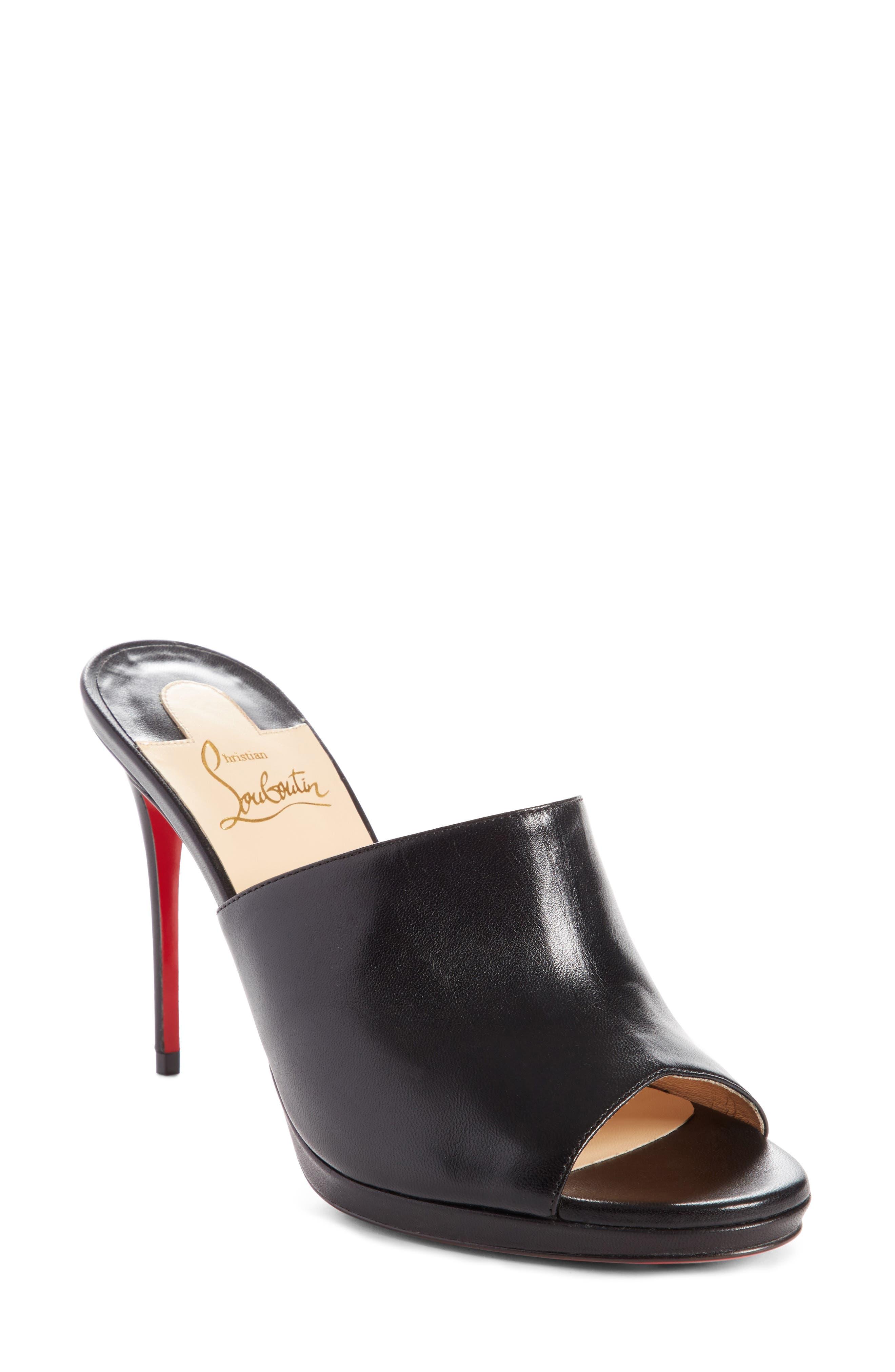 Pigamule Sandal,                         Main,                         color, BLACK