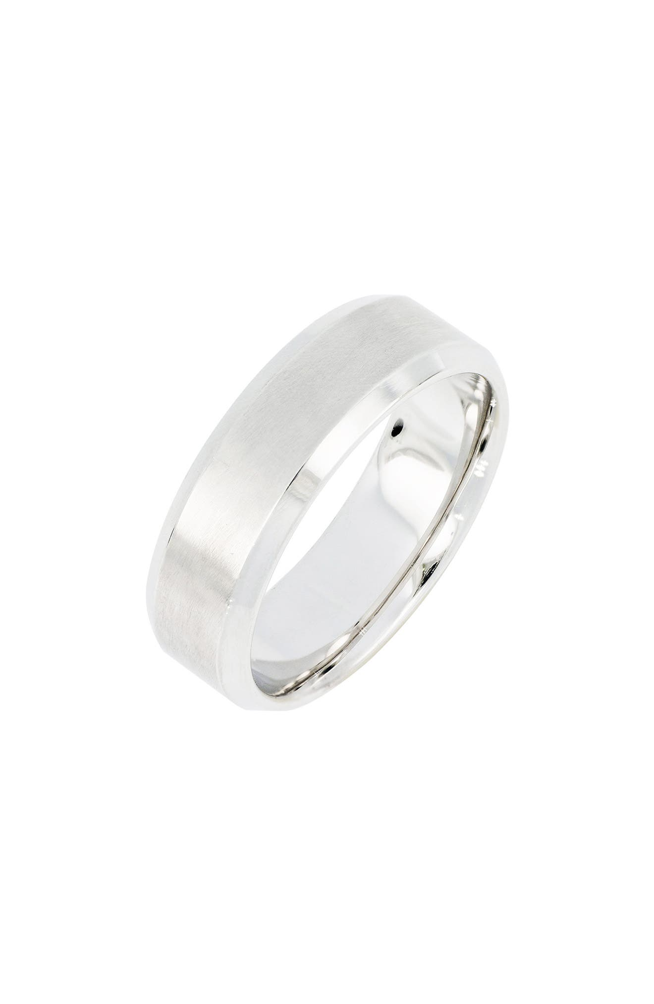 Beveled Ring,                         Main,                         color, WHITE GOLD