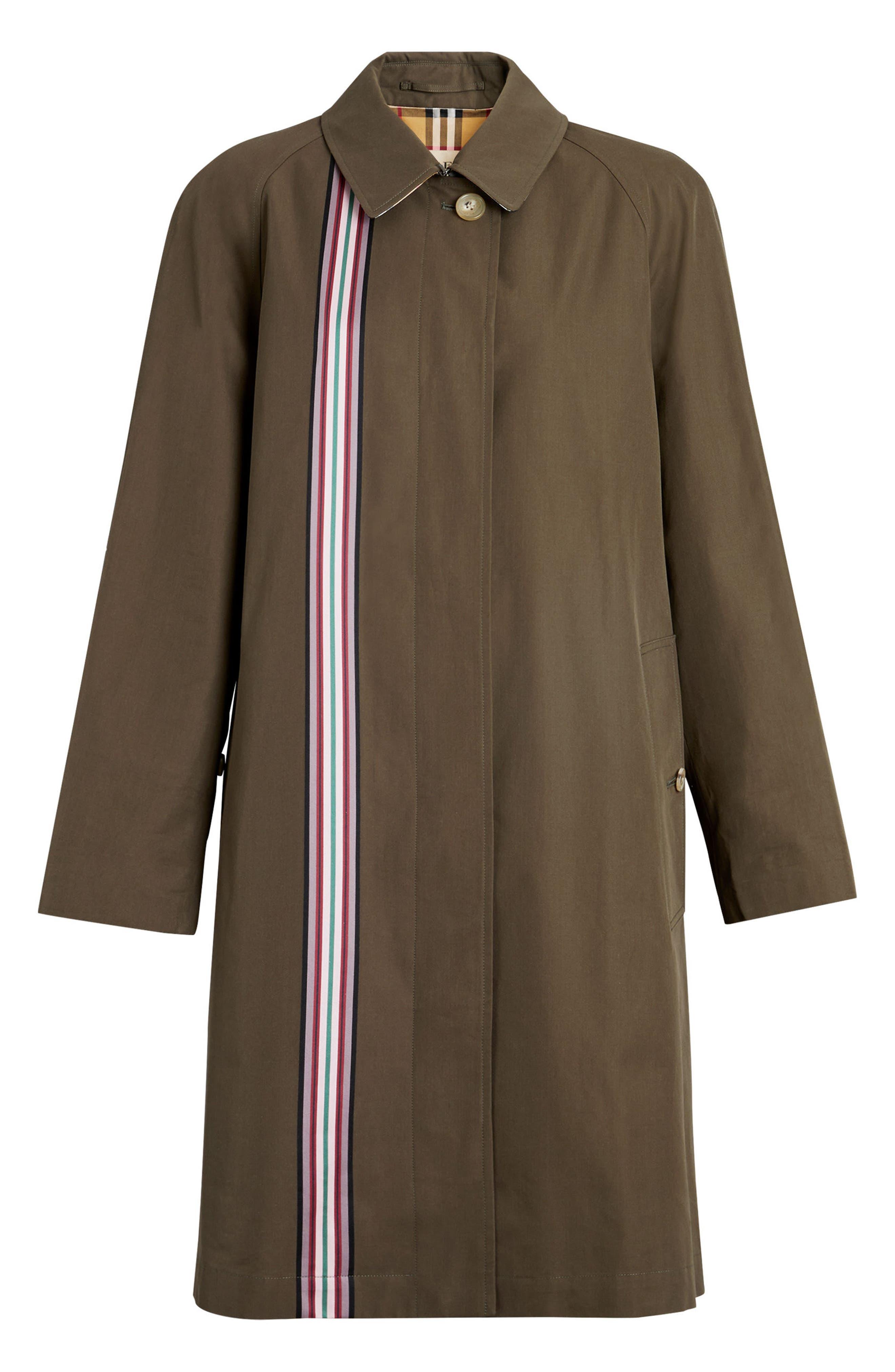 Eastborne Collegiate Stripe Car Coat,                             Alternate thumbnail 4, color,                             301