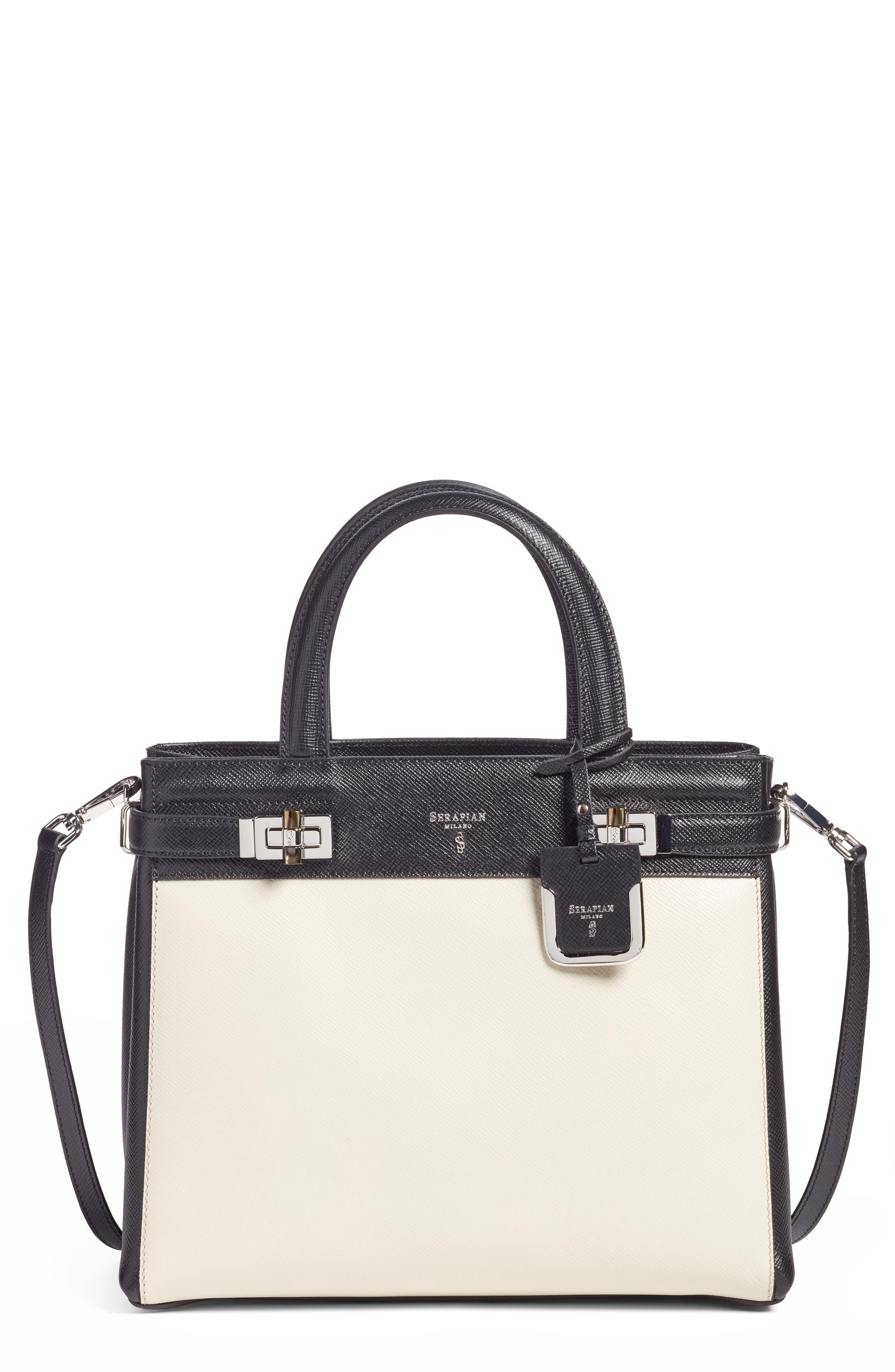 Small Meline Evolution Leather Bag,                             Main thumbnail 2, color,