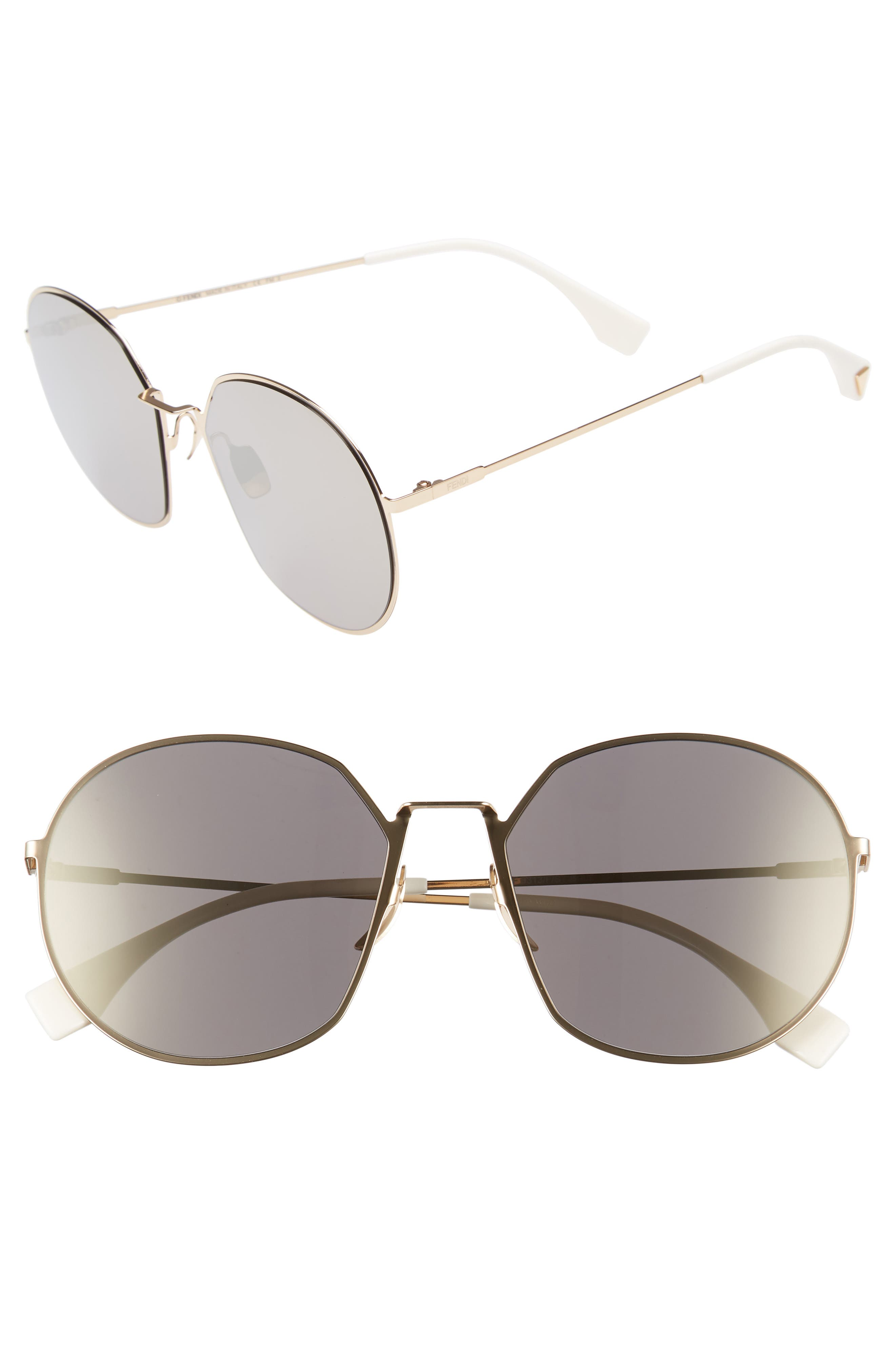 59mm Round Special Fit Sunglasses,                             Main thumbnail 4, color,