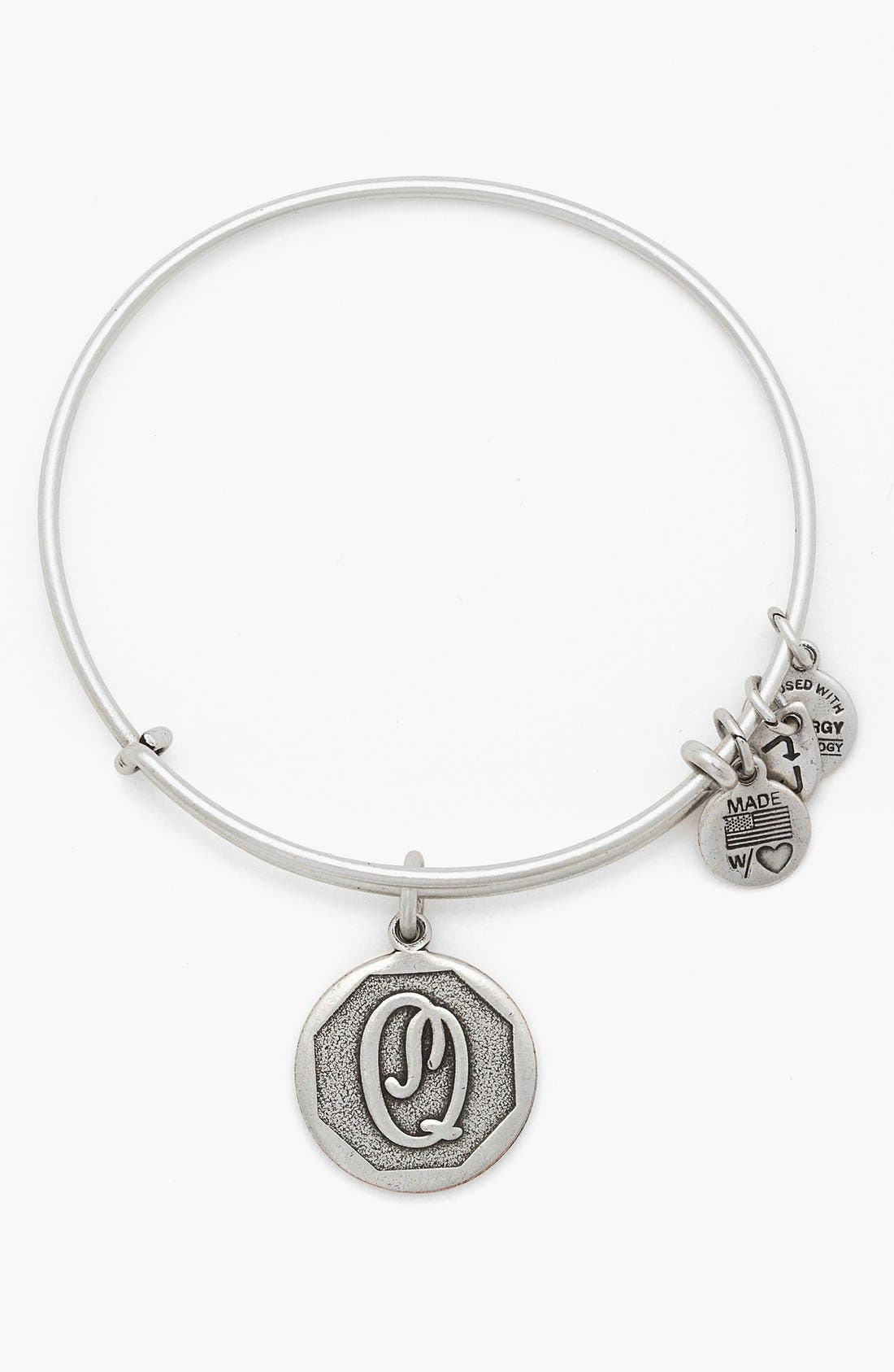 'Initial' Adjustable Wire Bangle,                             Main thumbnail 17, color,