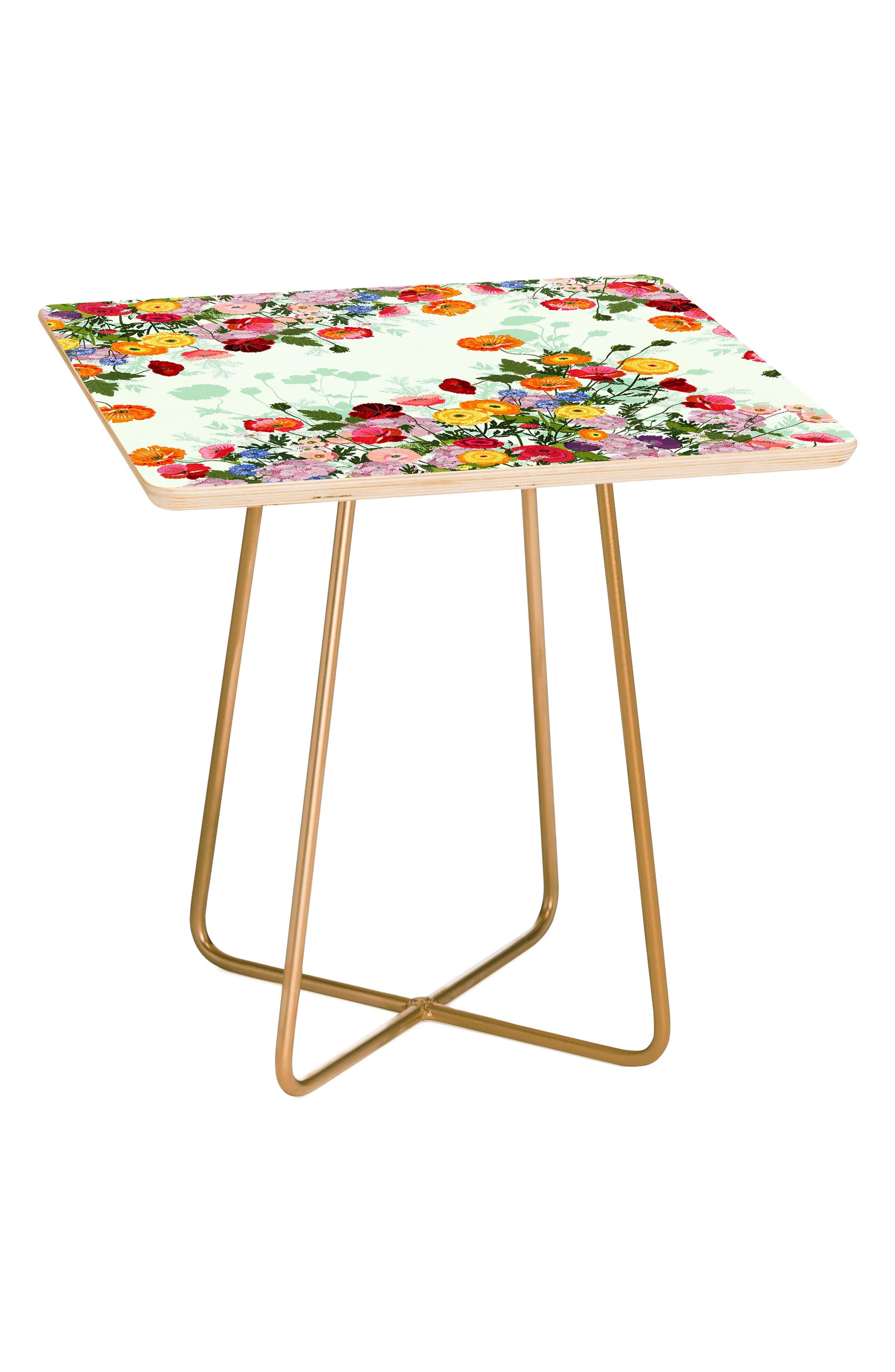 DENY DESIGNS Emmaline Side Table, Main, color, RED