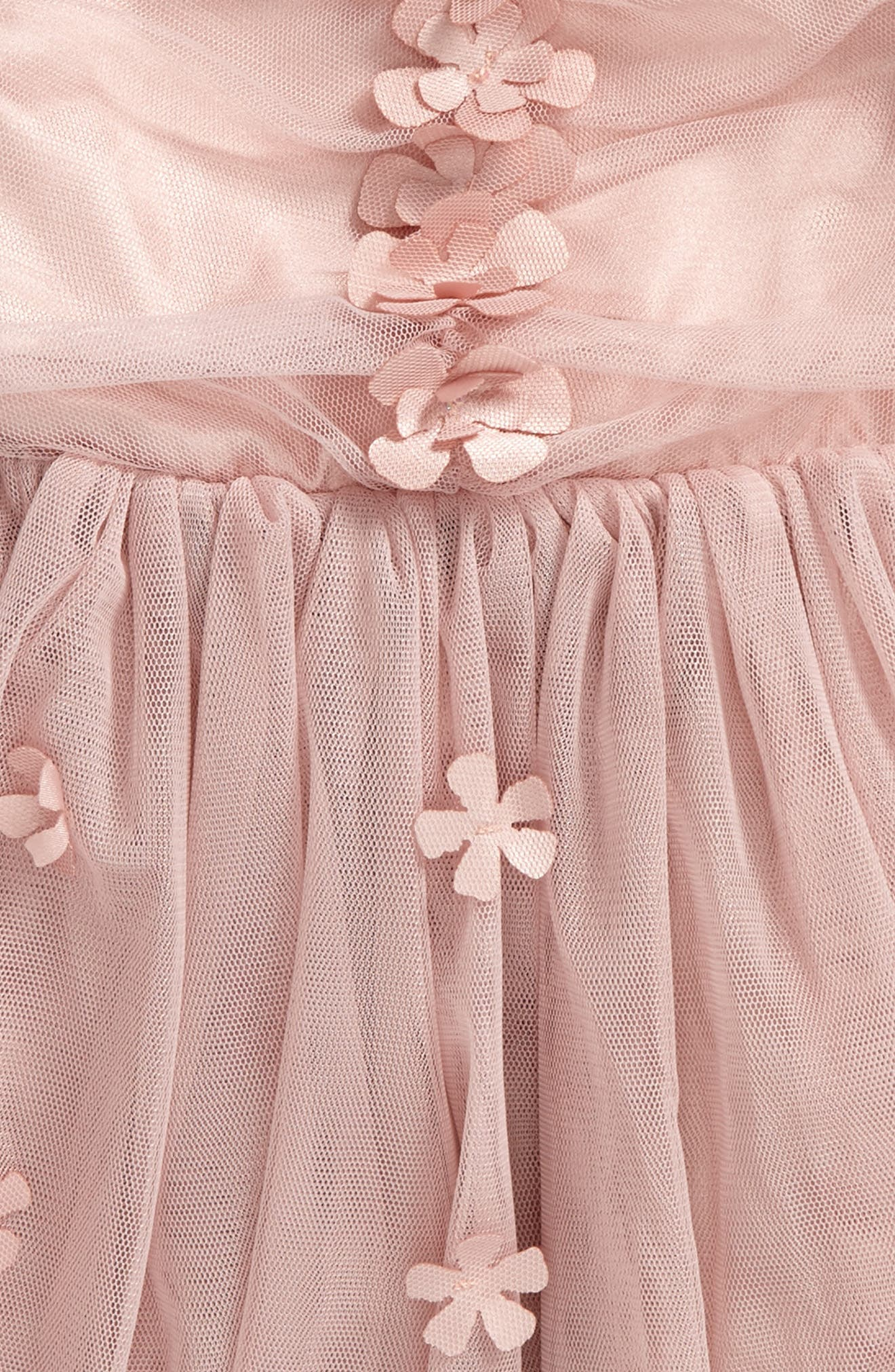Tulle Dress,                             Main thumbnail 1, color,                             DUSTY PINK