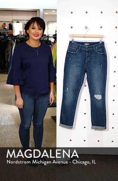 Stevie Ripped Crop Slim Boyfriend Jeans, sales video thumbnail