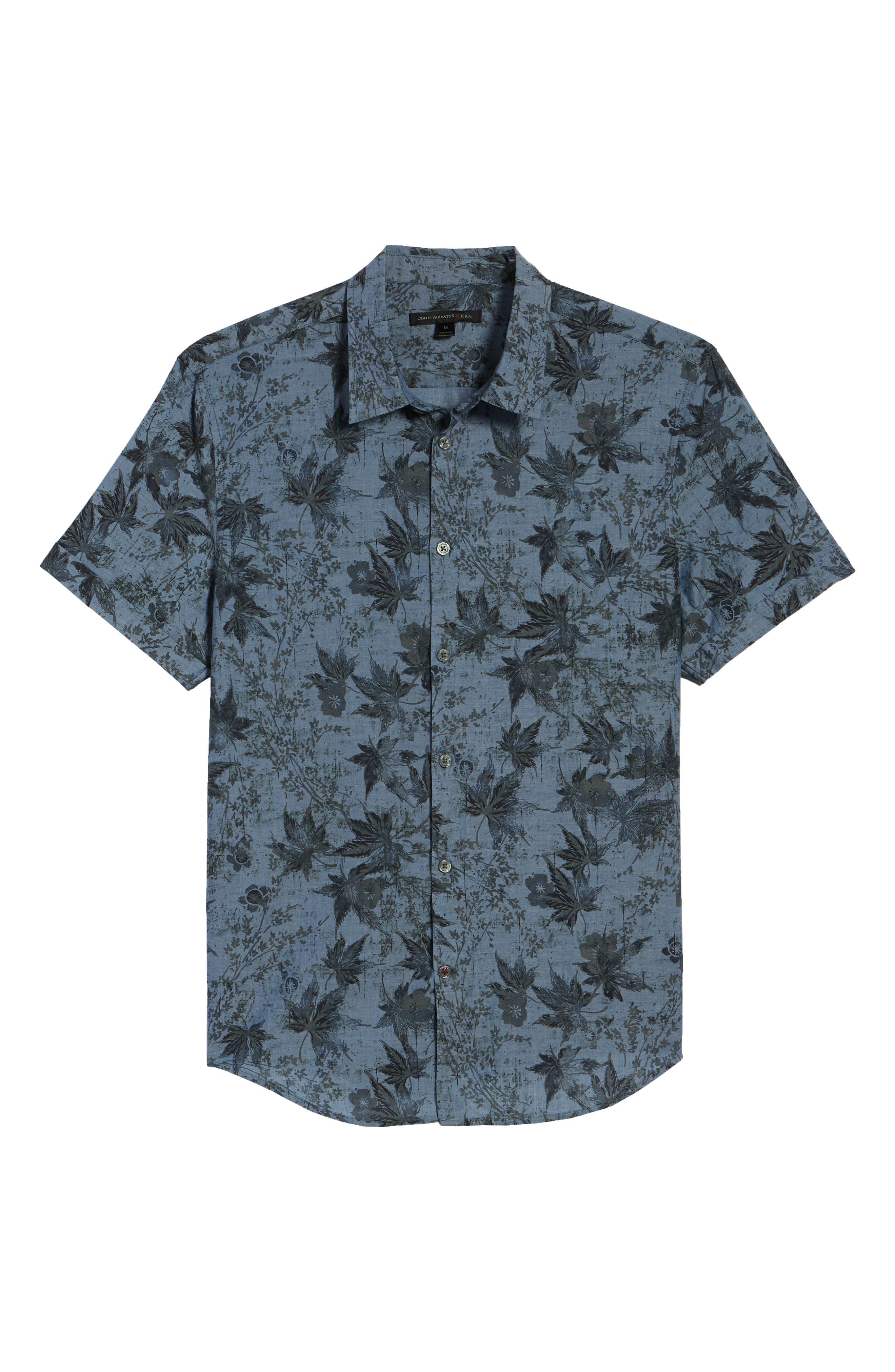 Regular Fit Print Short Sleeve Sport Shirt,                             Alternate thumbnail 6, color,                             410