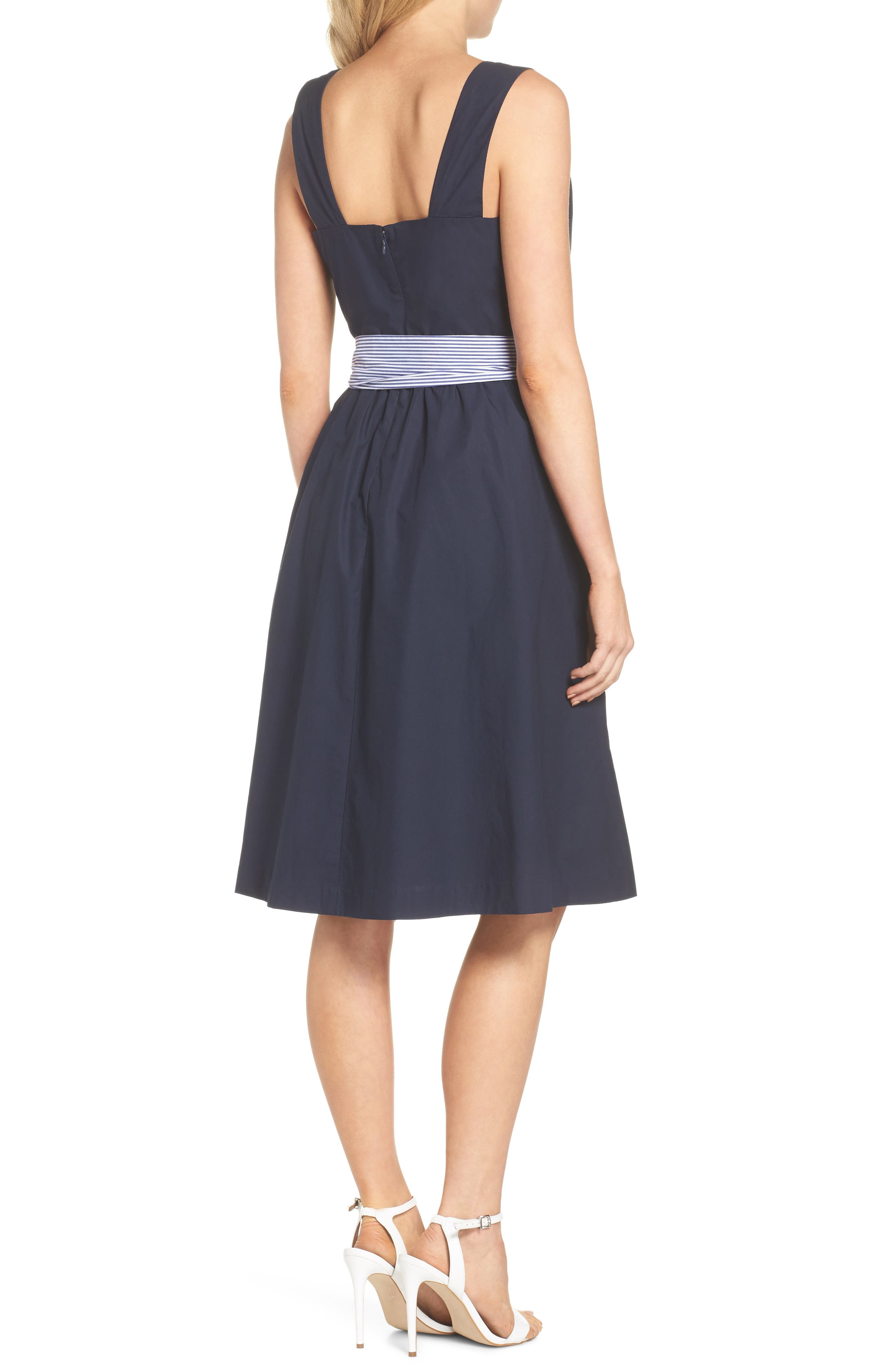 Two-Tone Tie Waist Sheath Dress,                             Alternate thumbnail 2, color,                             401