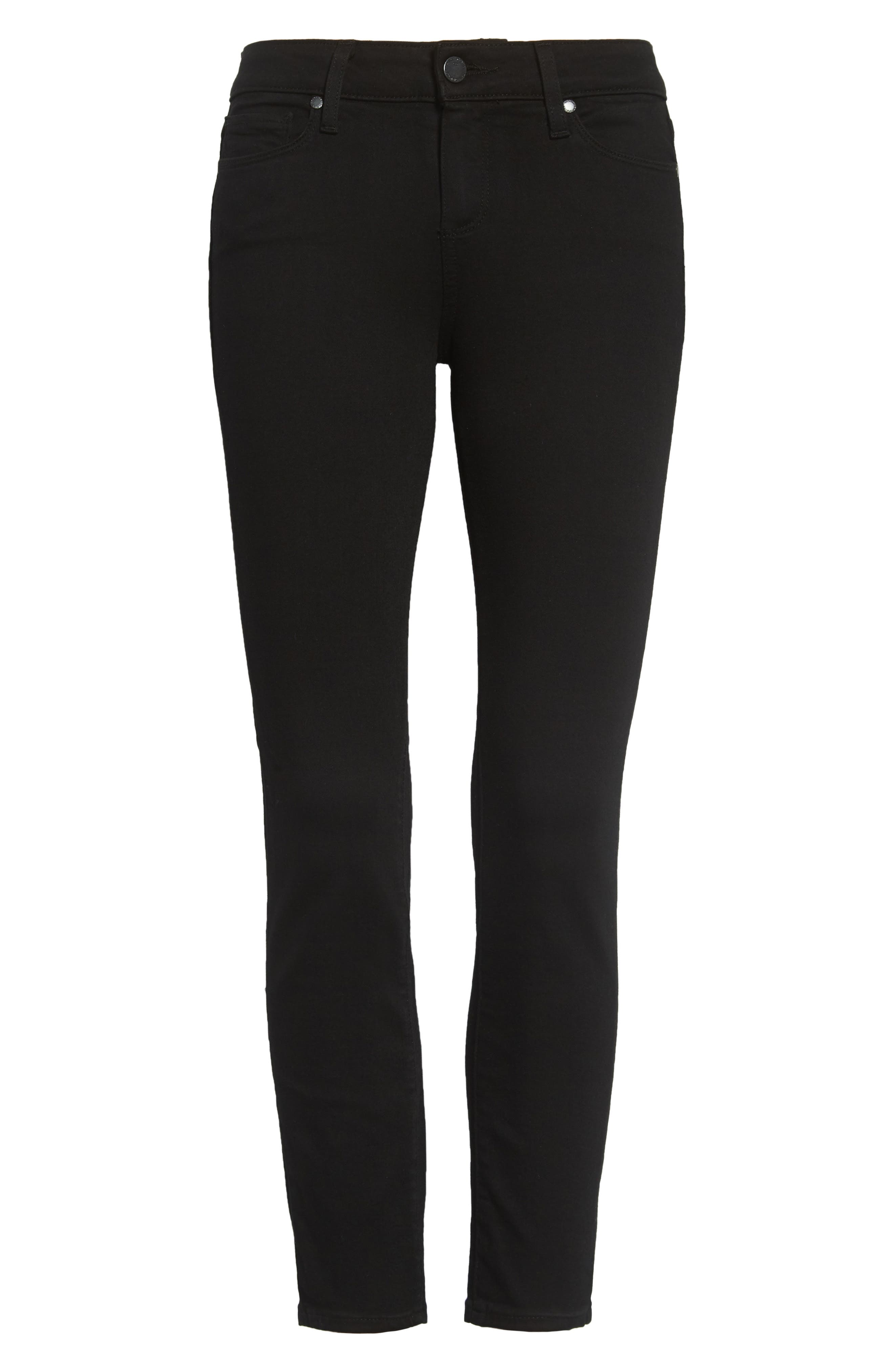Transcend - Verdugo Crop Skinny Jeans,                             Alternate thumbnail 3, color,                             BLACK