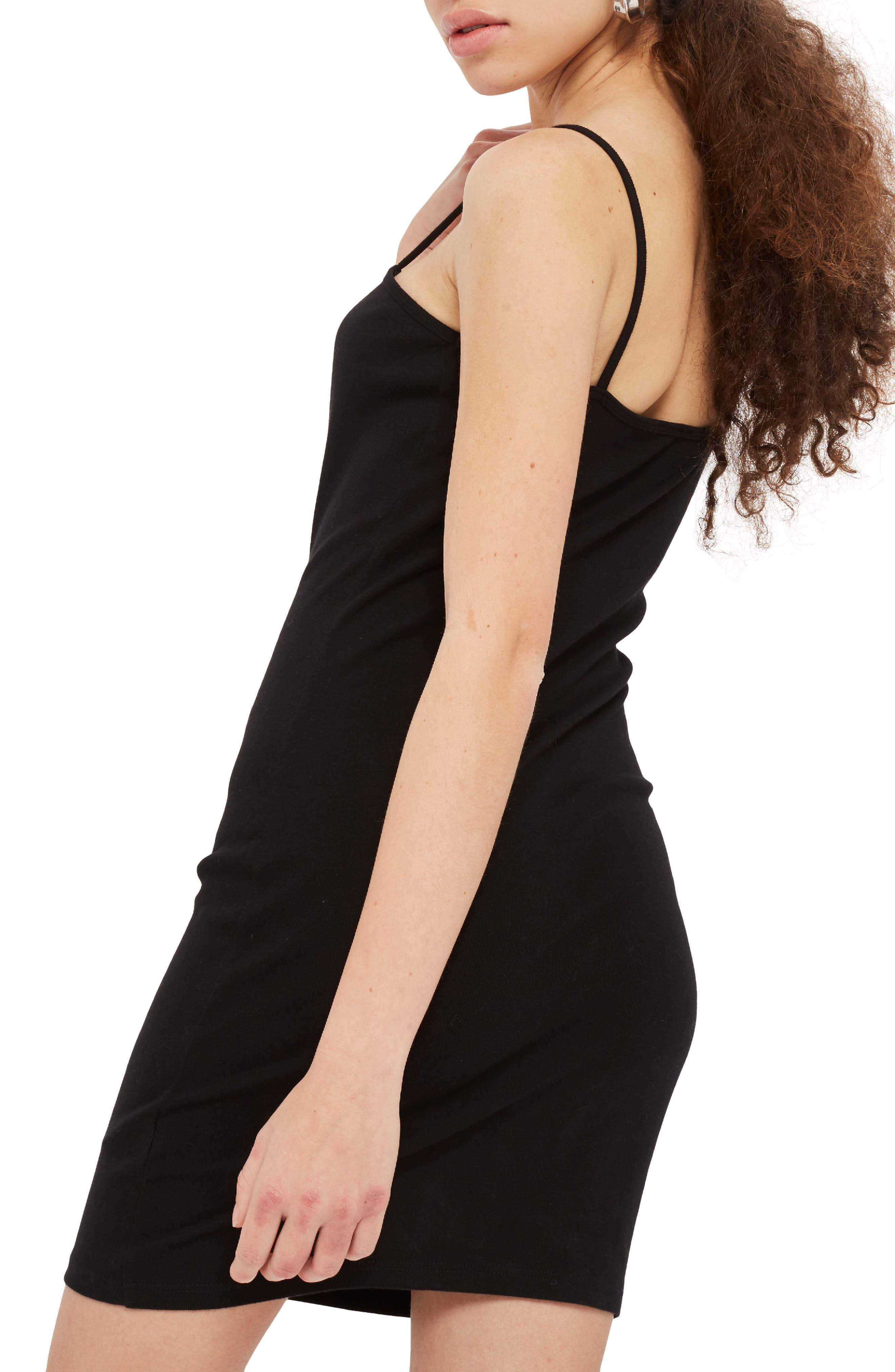 Jersey Body-Con Minidress,                             Alternate thumbnail 2, color,                             001