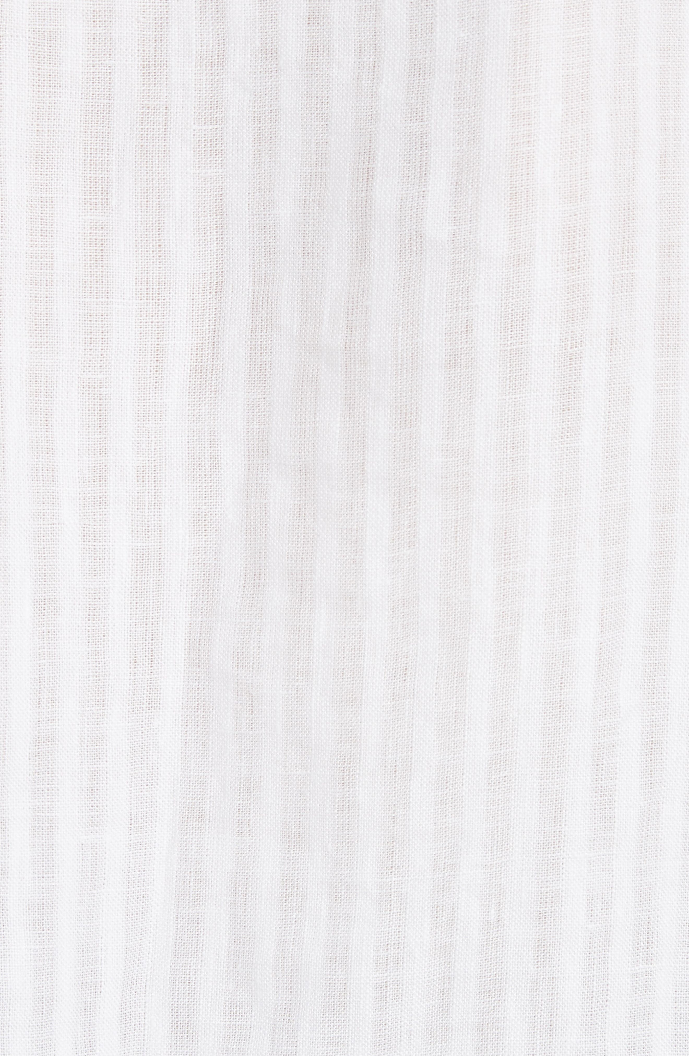 Pintucked Linen Top,                             Alternate thumbnail 5, color,                             199