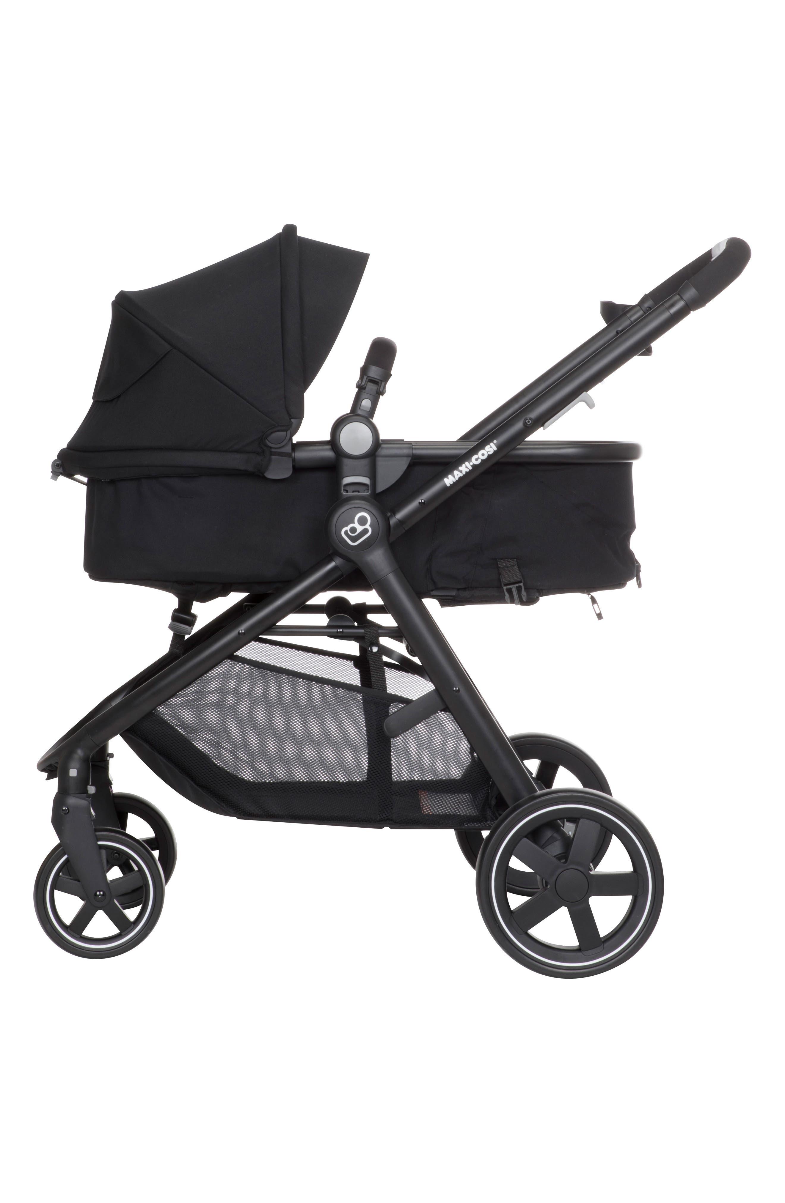 5-1 Mico 30 Infant Car Seat & Zelia Stroller Modular Travel System,                             Alternate thumbnail 7, color,                             NIGHT BLACK