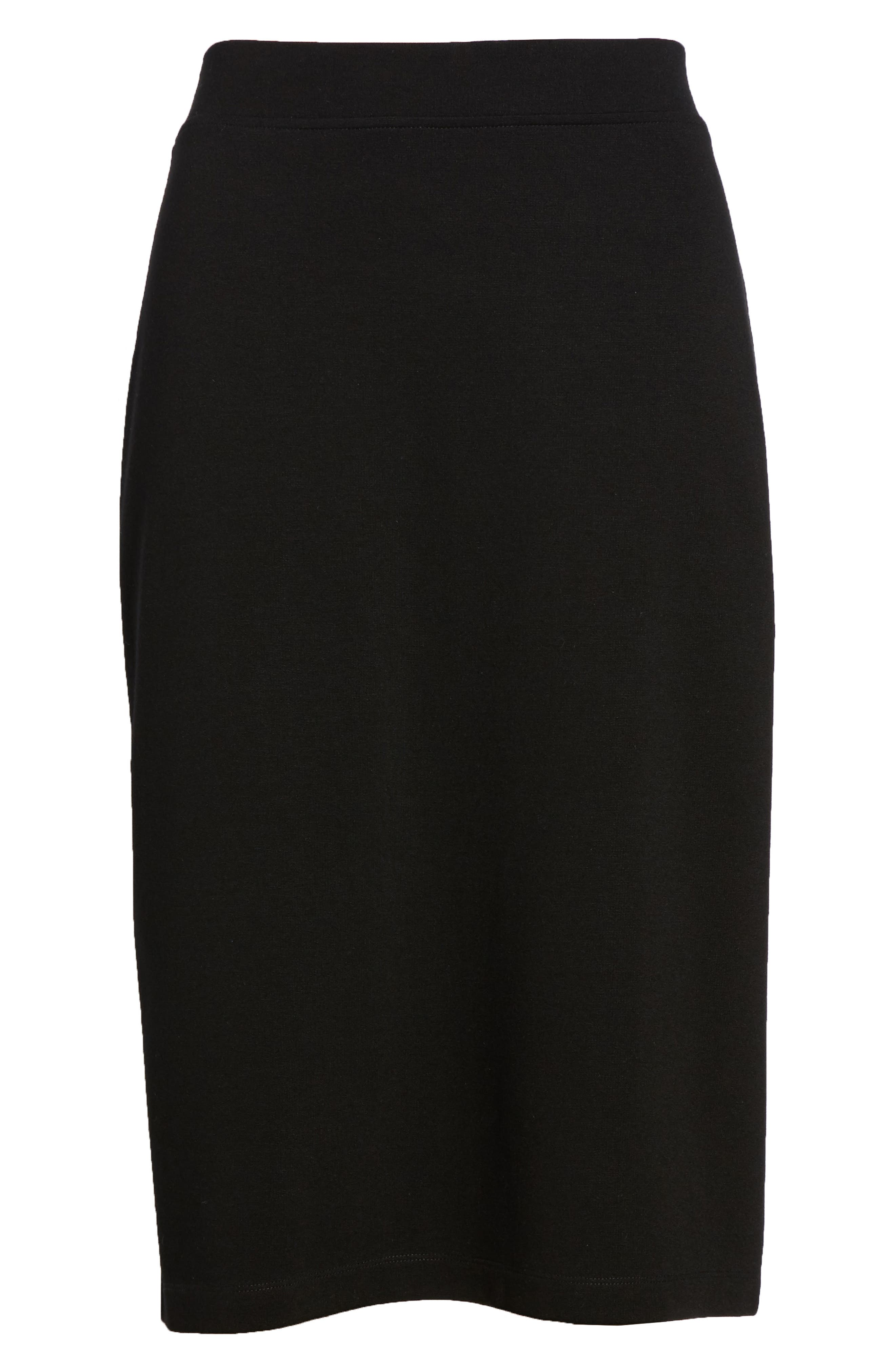 Tencel<sup>®</sup> Lyocell Blend Knit Pencil Skirt,                             Alternate thumbnail 6, color,