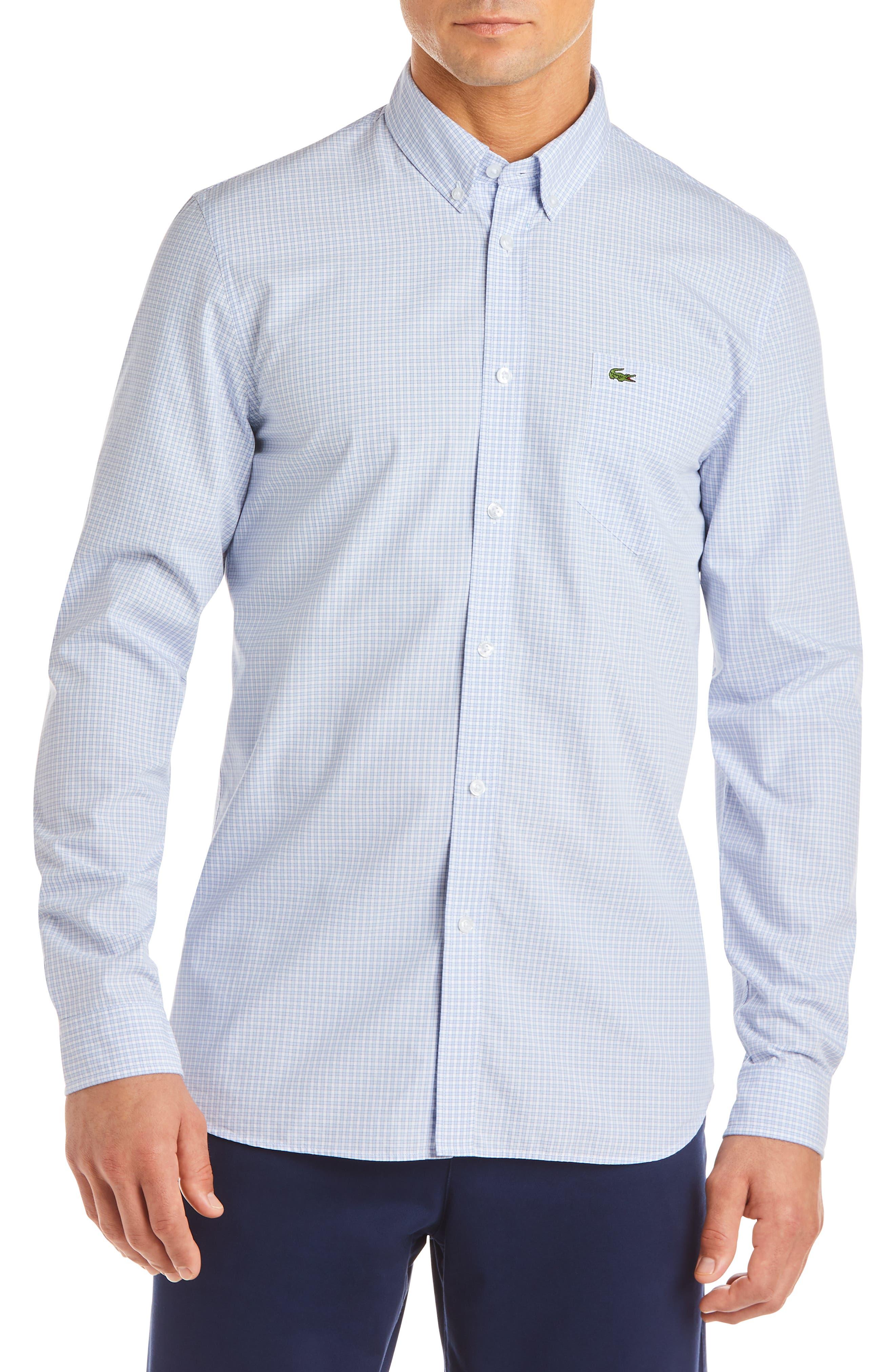 Regular Fit Check Sport Shirt,                             Main thumbnail 1, color,                             IODINE/ WHITE
