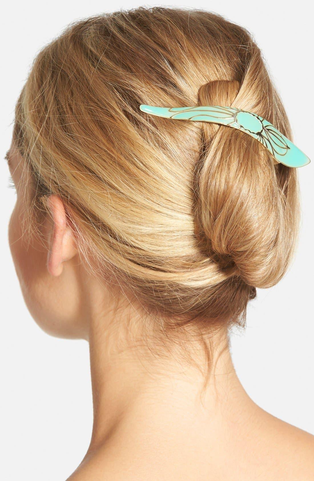Maximas Lotus Hair Clip,                             Main thumbnail 1, color,                             OPAL
