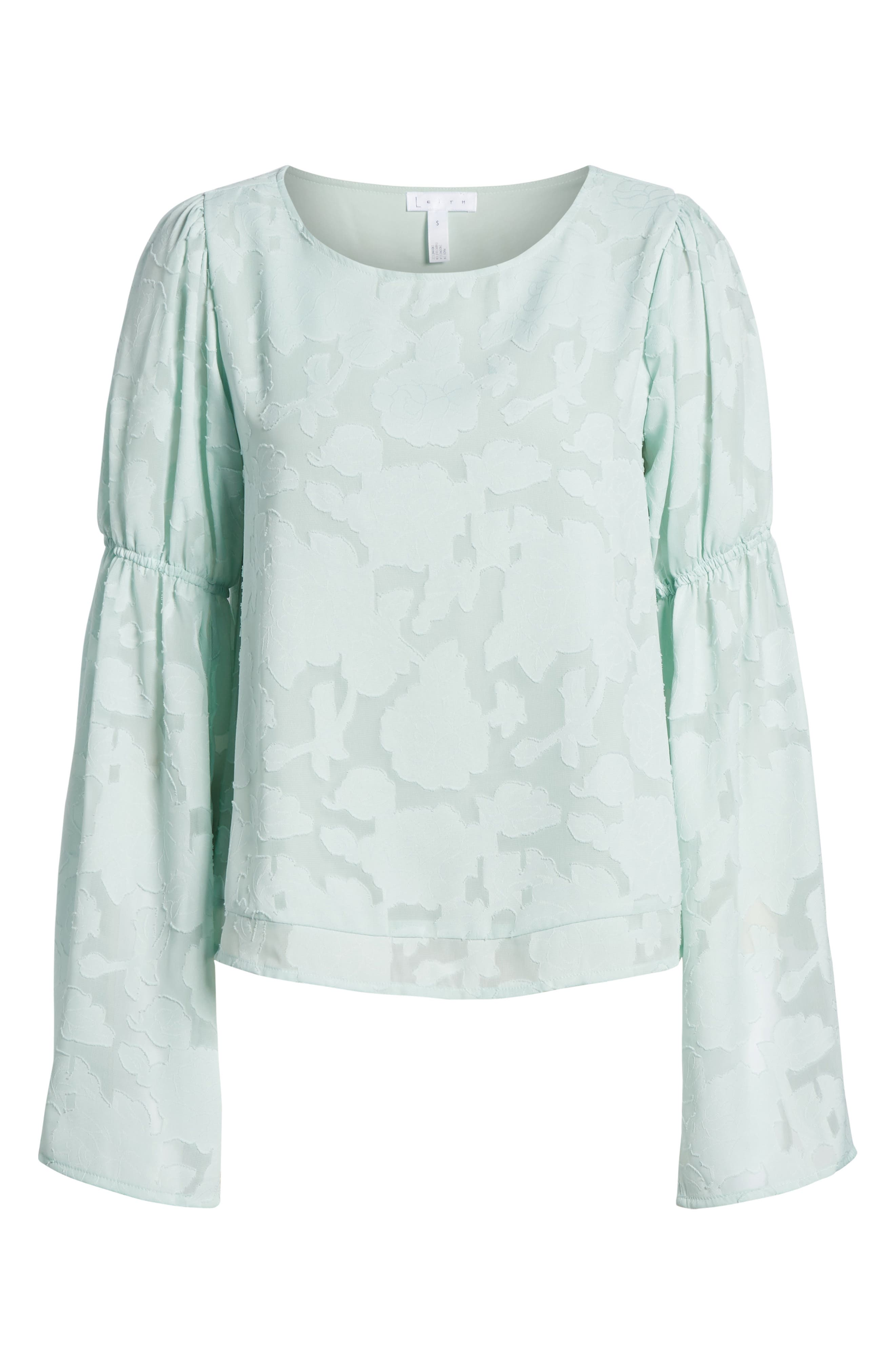 Puff Flared Sleeve Blouse,                             Alternate thumbnail 7, color,                             445