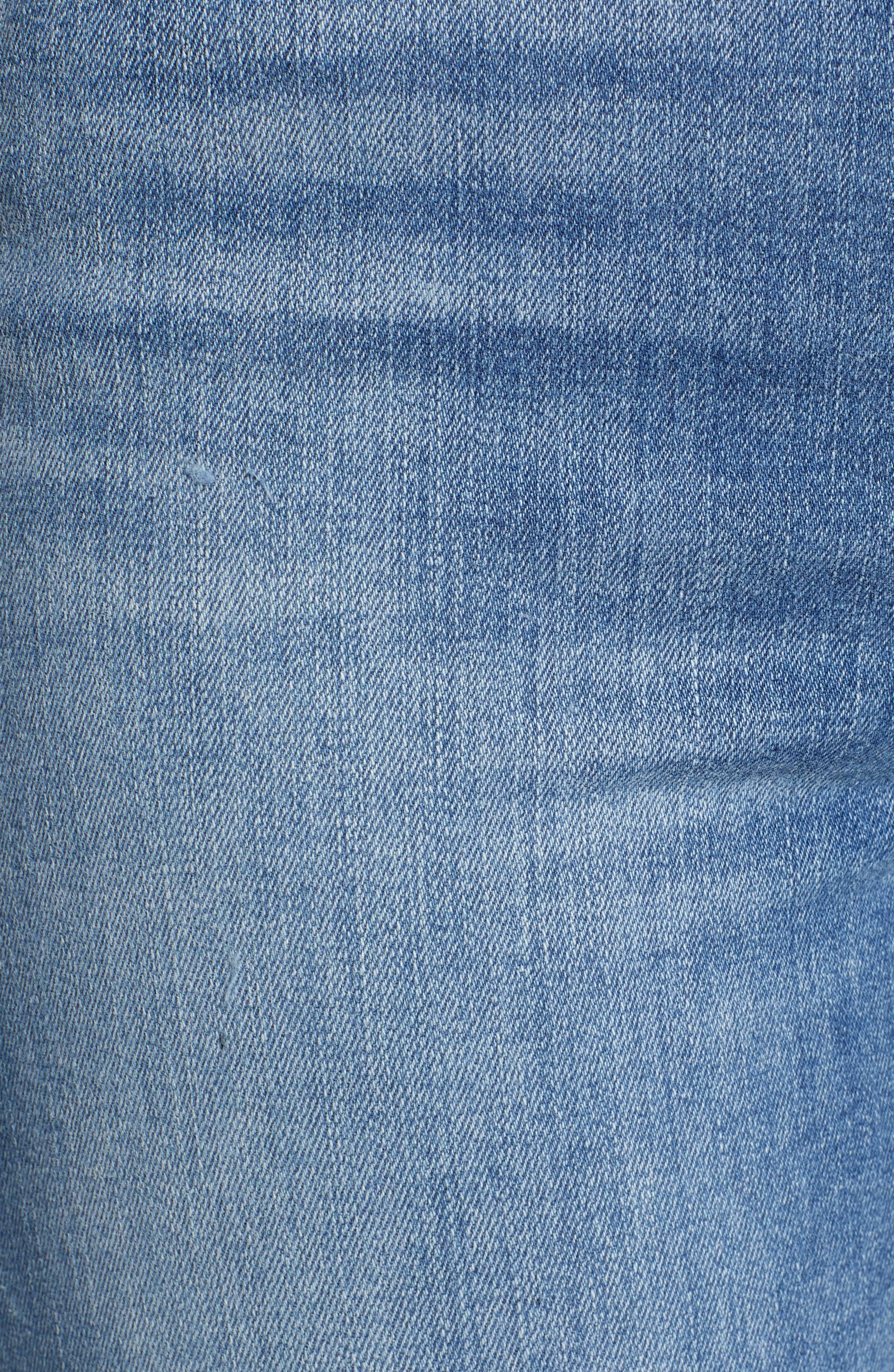 724<sup>™</sup> Ripped High Waist Raw Edge Crop Jeans,                             Alternate thumbnail 5, color,                             420