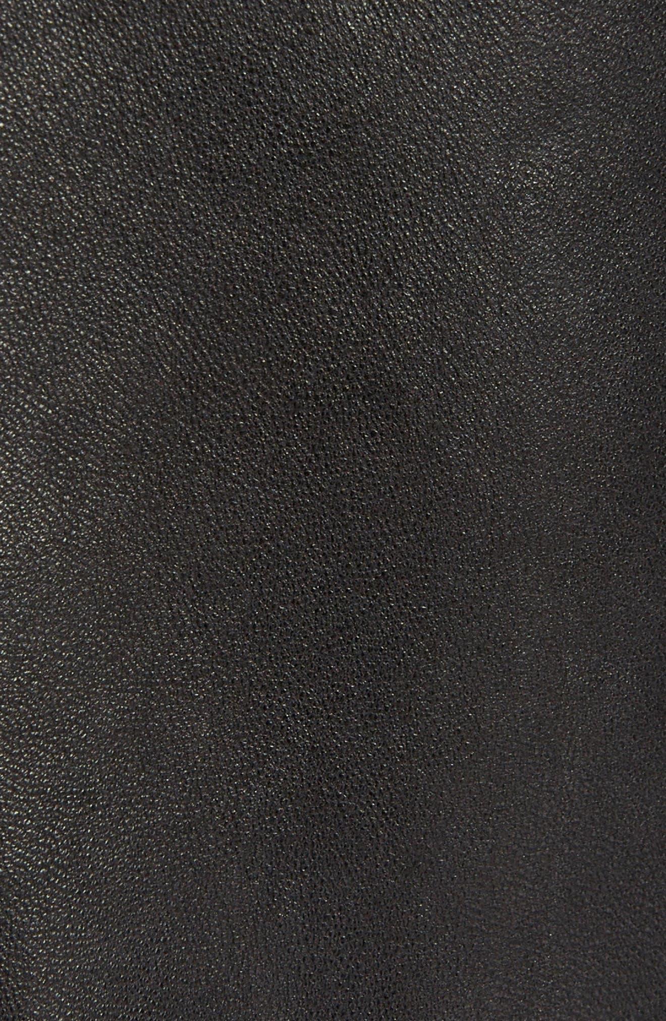 Isabel Marant Étoile Aya Leather Pants,                             Alternate thumbnail 5, color,                             BLACK