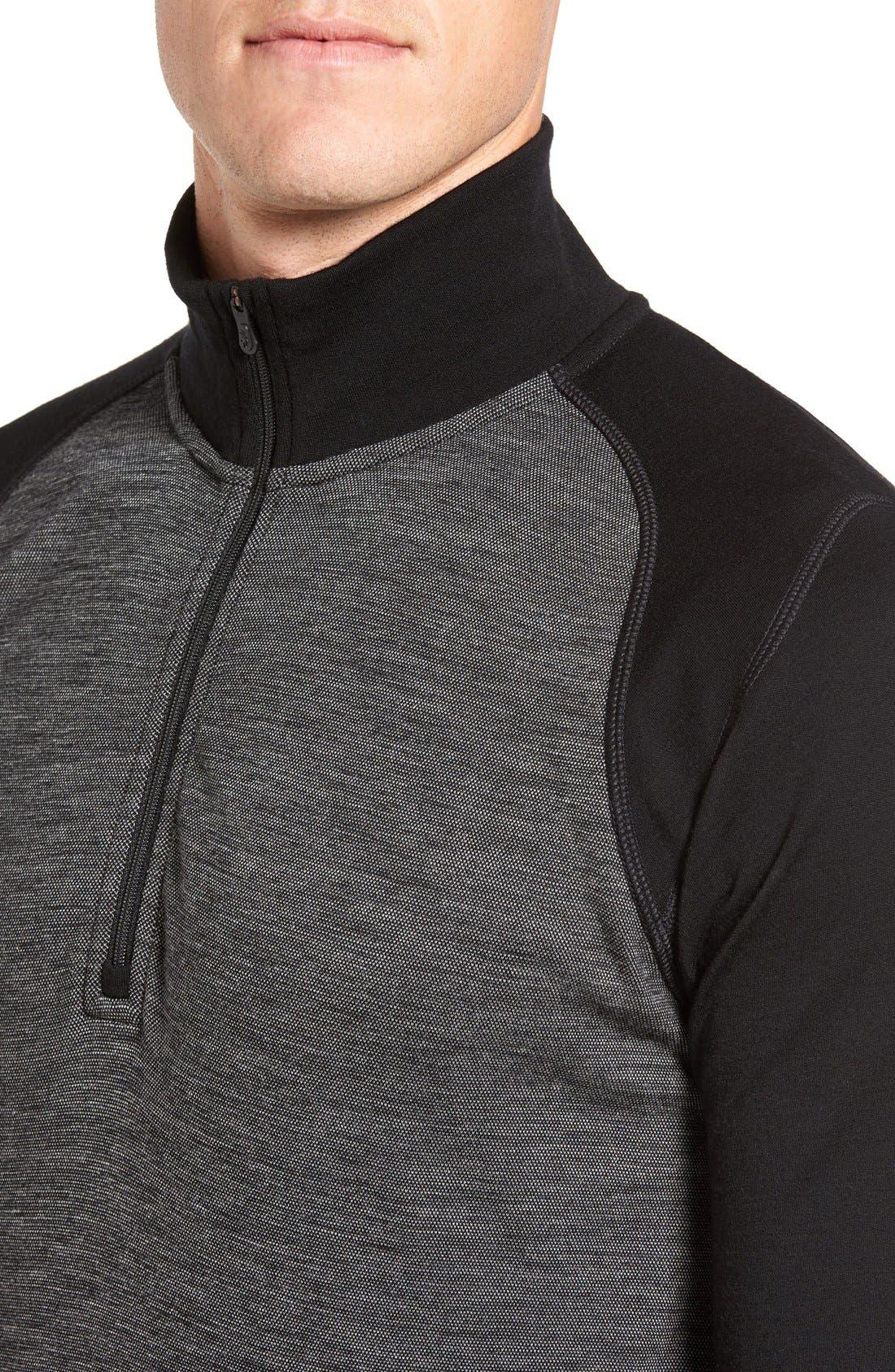 Merino 250 Base Layer Pattern Quarter Zip Pullover,                             Alternate thumbnail 8, color,