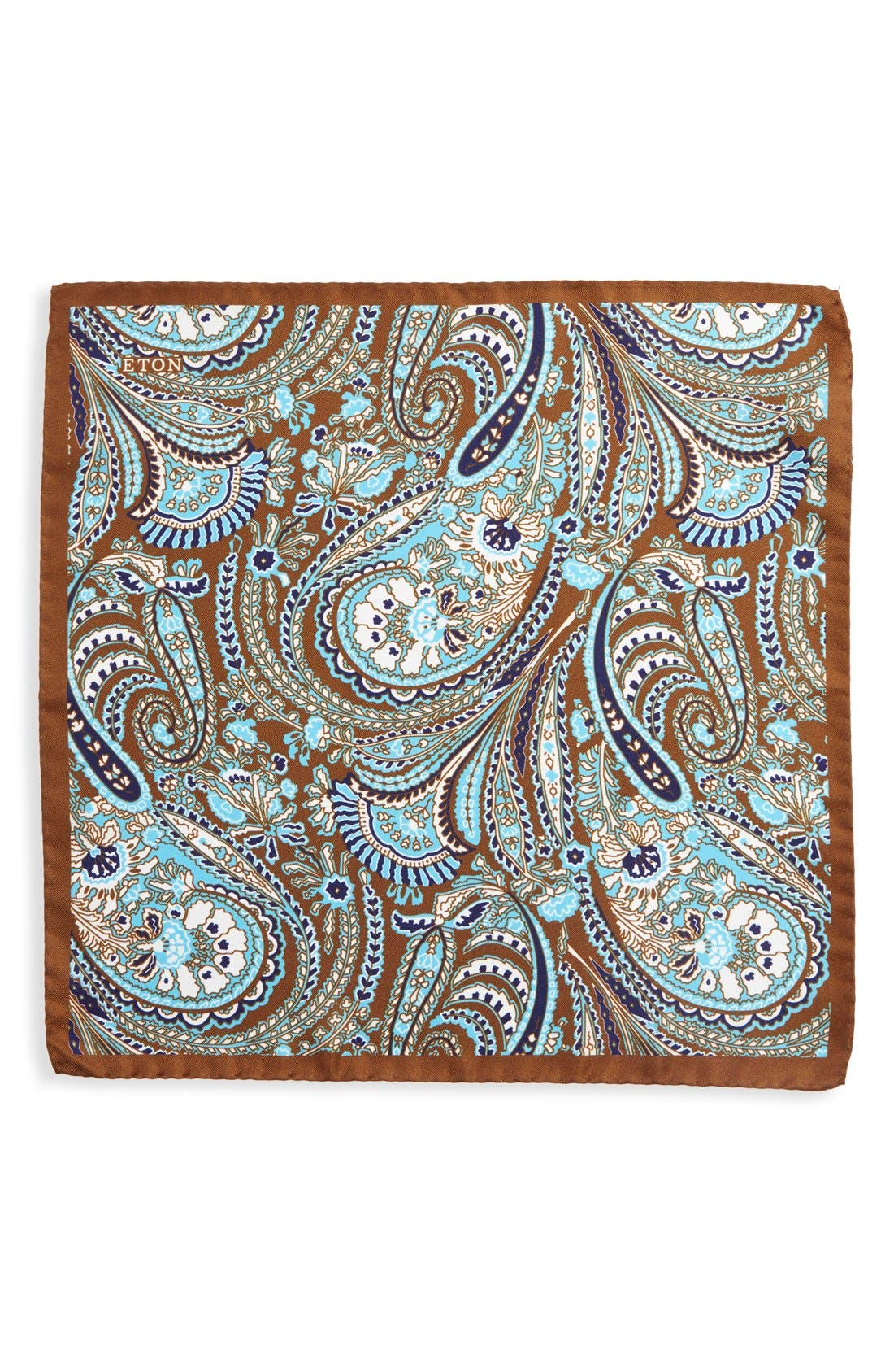 Paisley Silk Pocket Square,                             Alternate thumbnail 2, color,                             200