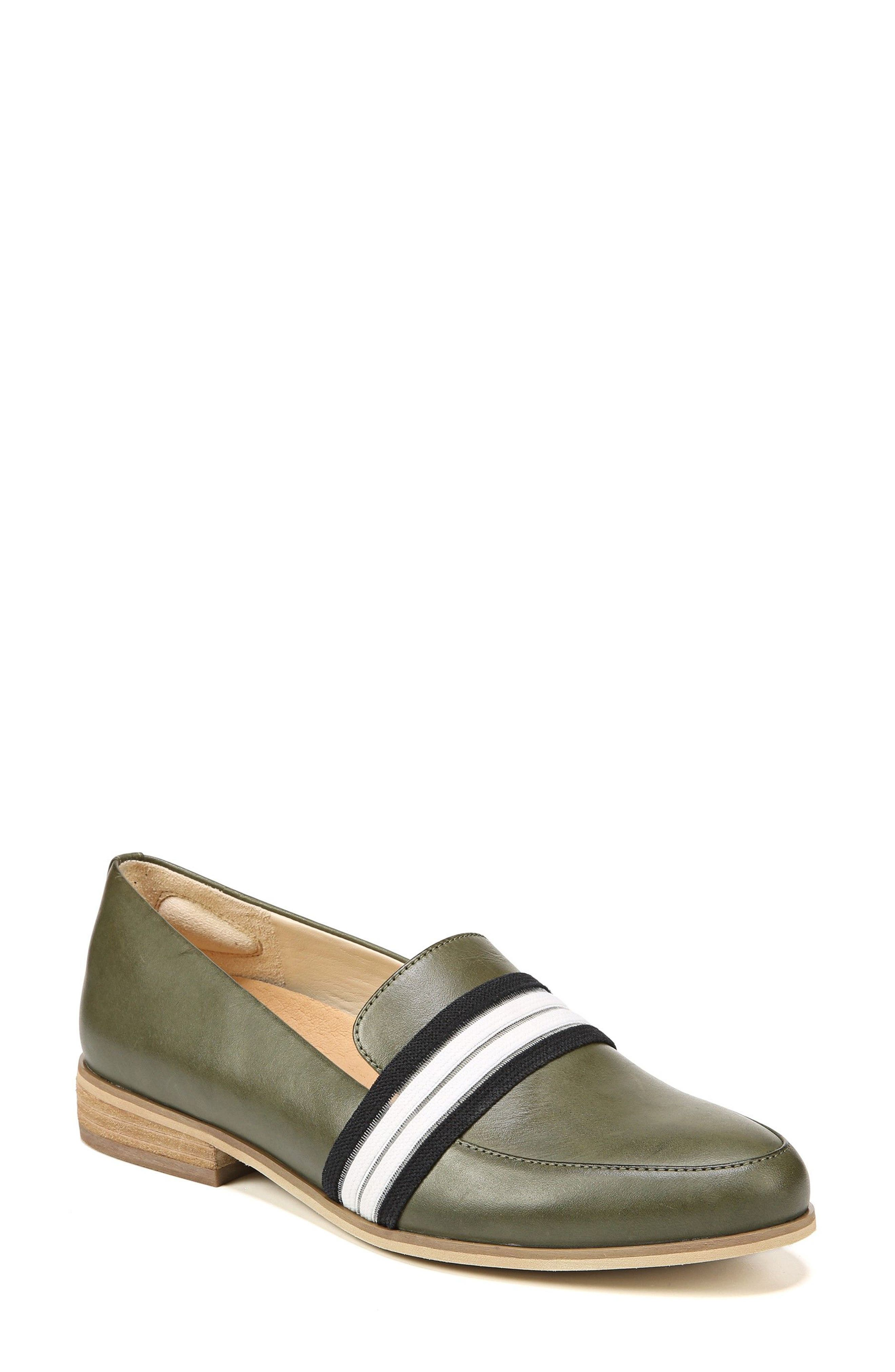 Everett Band Loafer,                             Main thumbnail 1, color,                             GREEN LEATHER