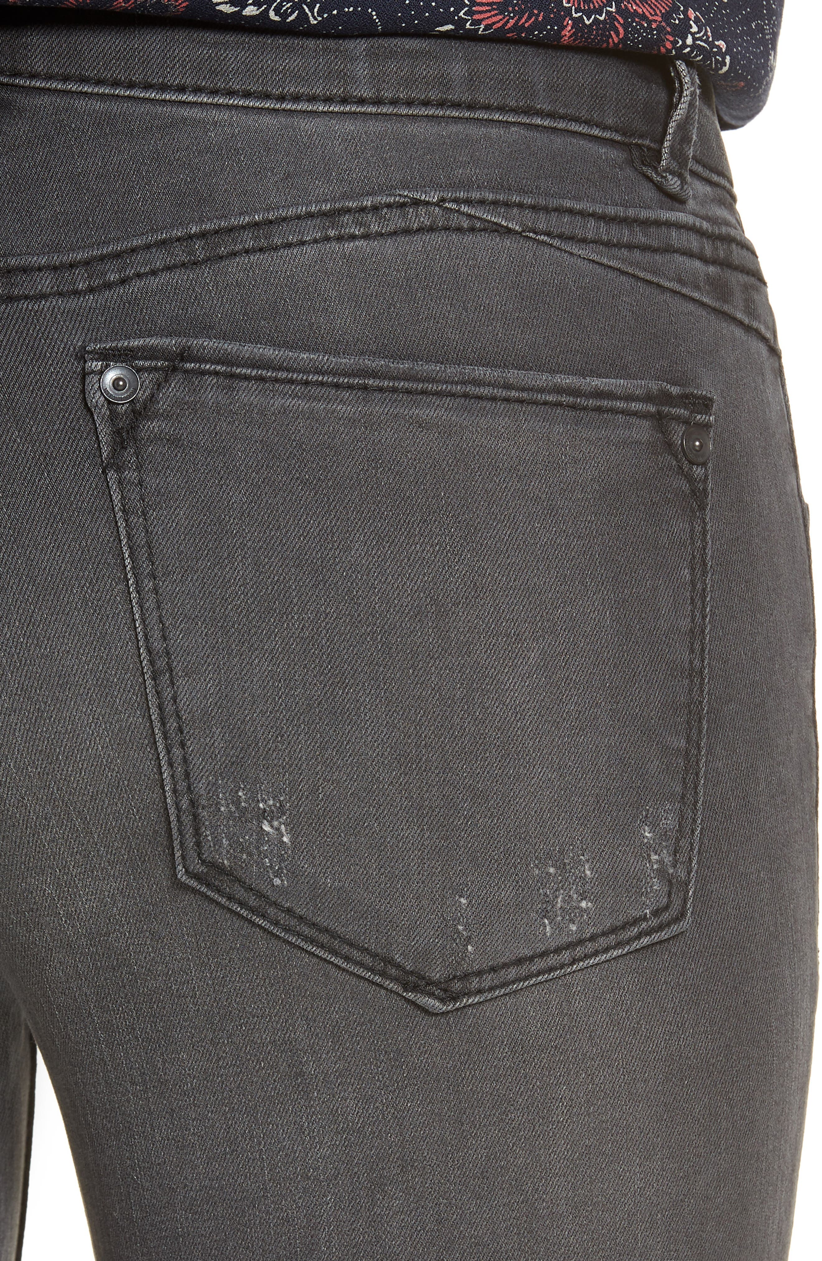 Ab-Solution Ankle Skinny Stretch Jeans,                             Alternate thumbnail 4, color,                             020
